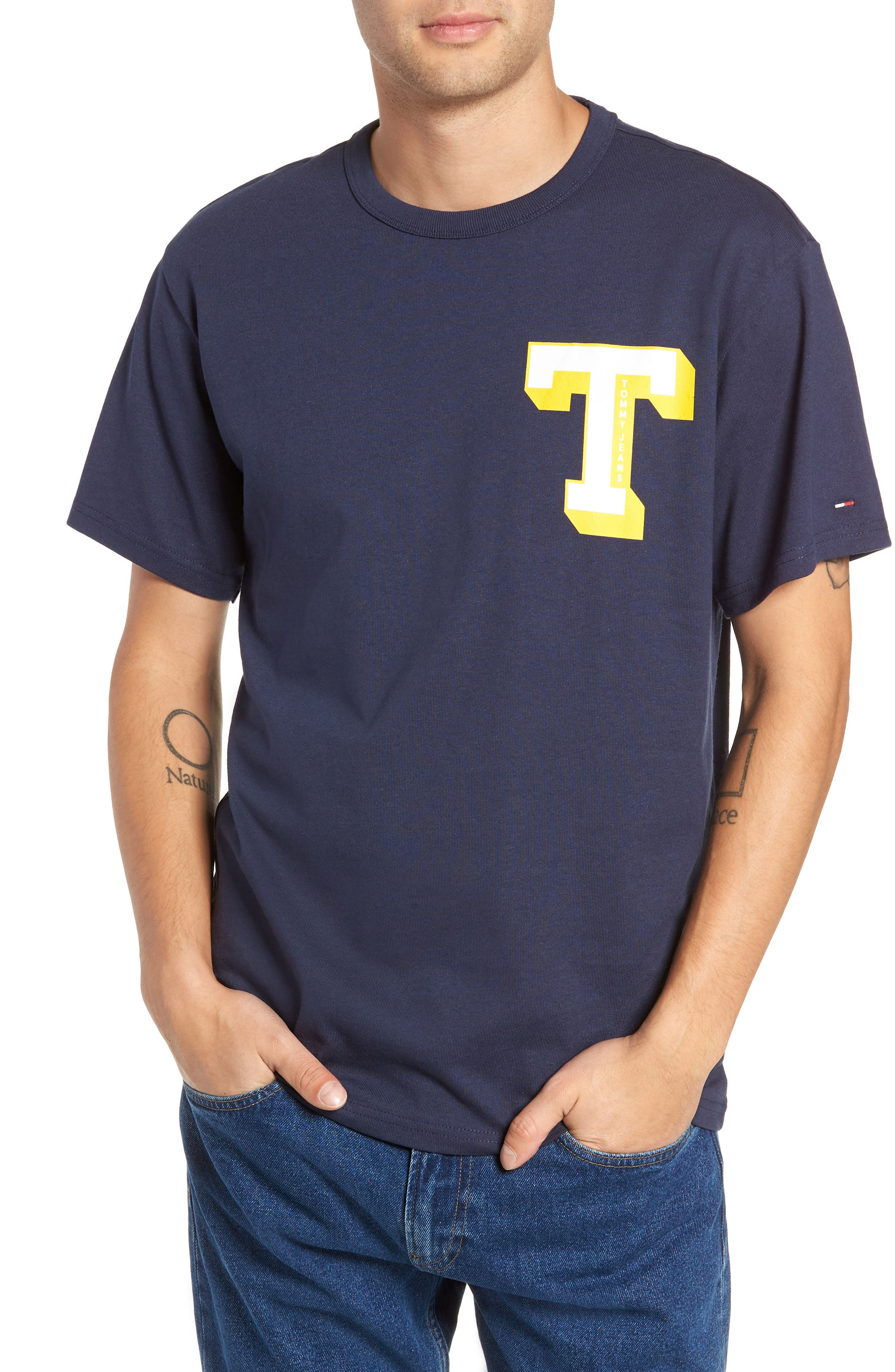 Tommy Jeans Essential Graphic T-Shirt, Blue