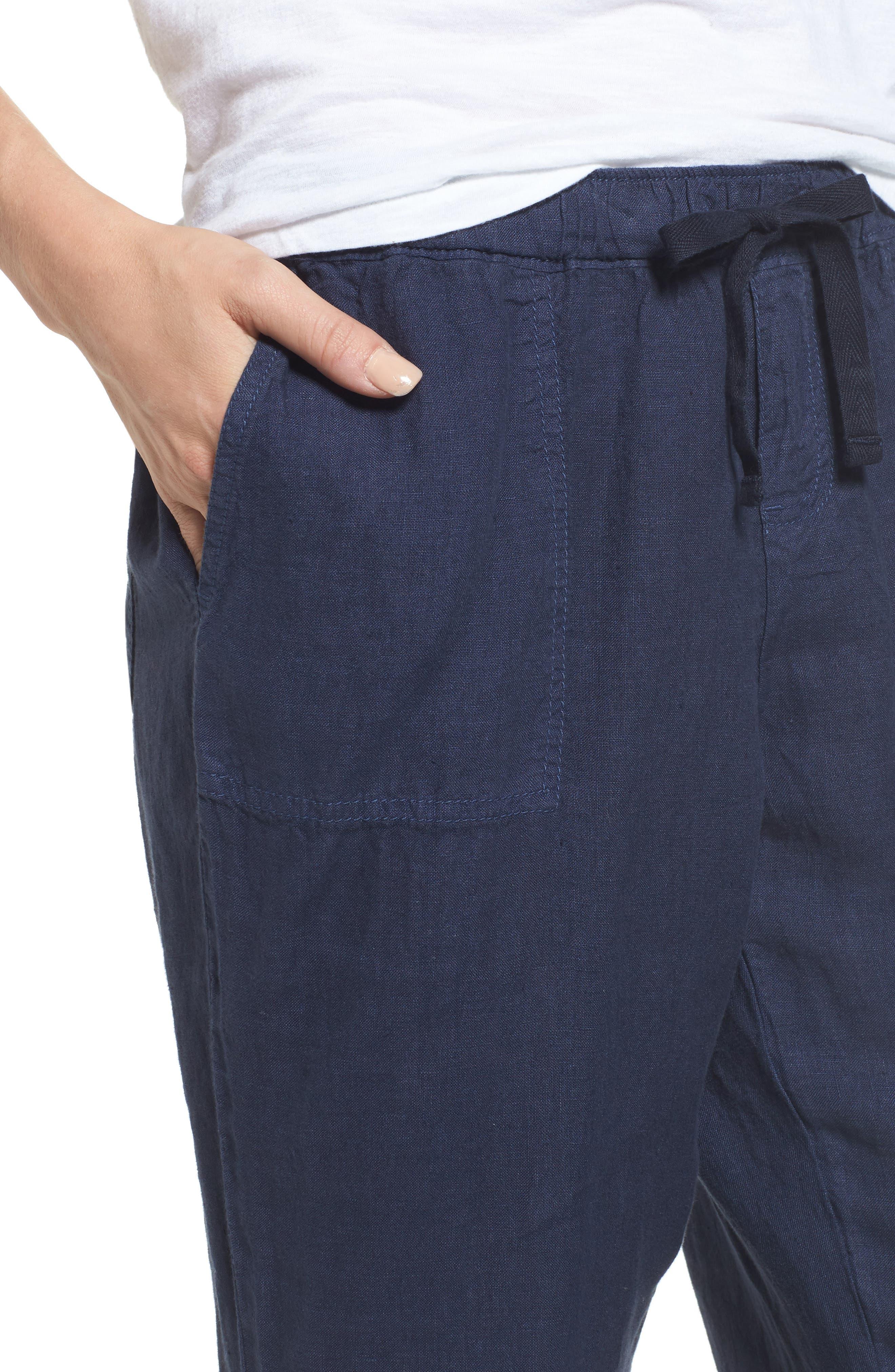Crop Linen Joggers,                             Alternate thumbnail 24, color,