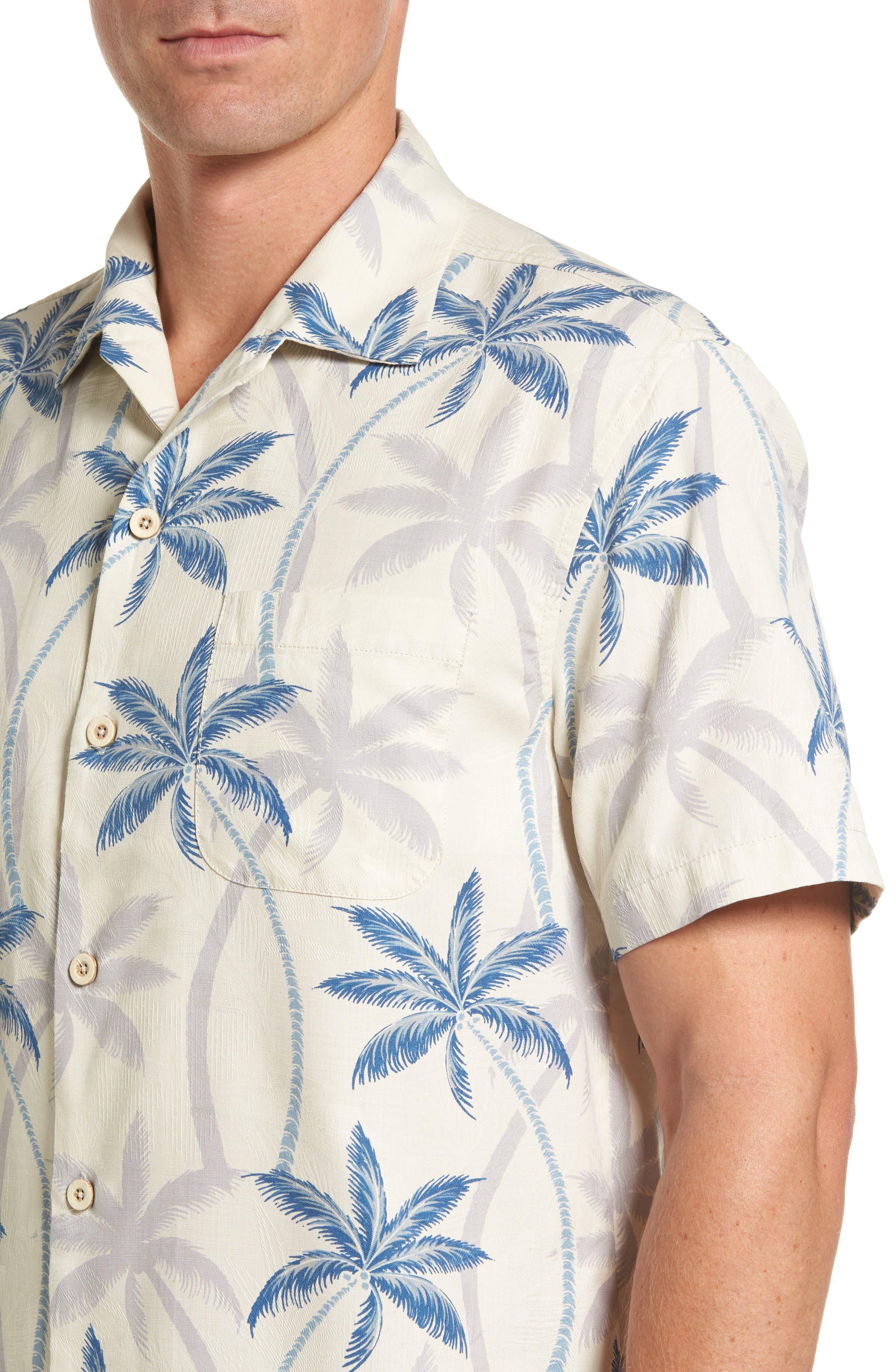 Palmas Palooza Woven Shirt,                             Alternate thumbnail 4, color,                             100
