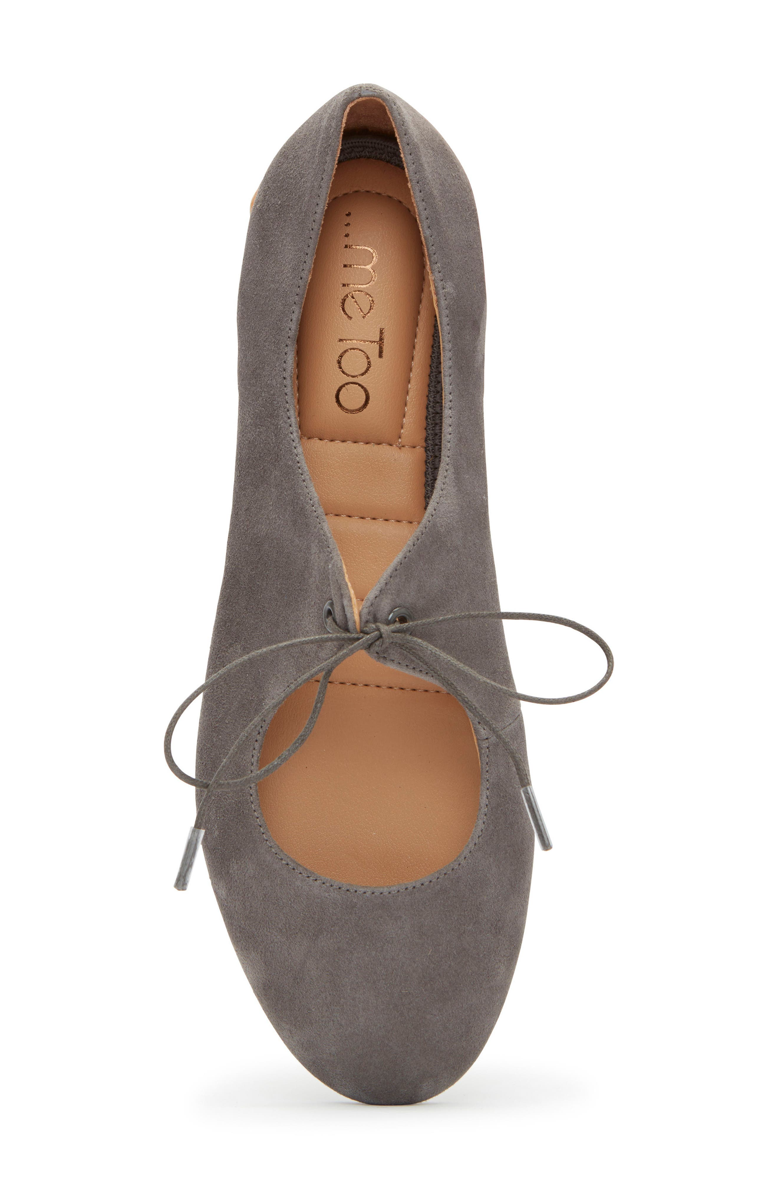 Cacey Mary Jane Flat,                             Alternate thumbnail 5, color,                             CHARCOAL SUEDE