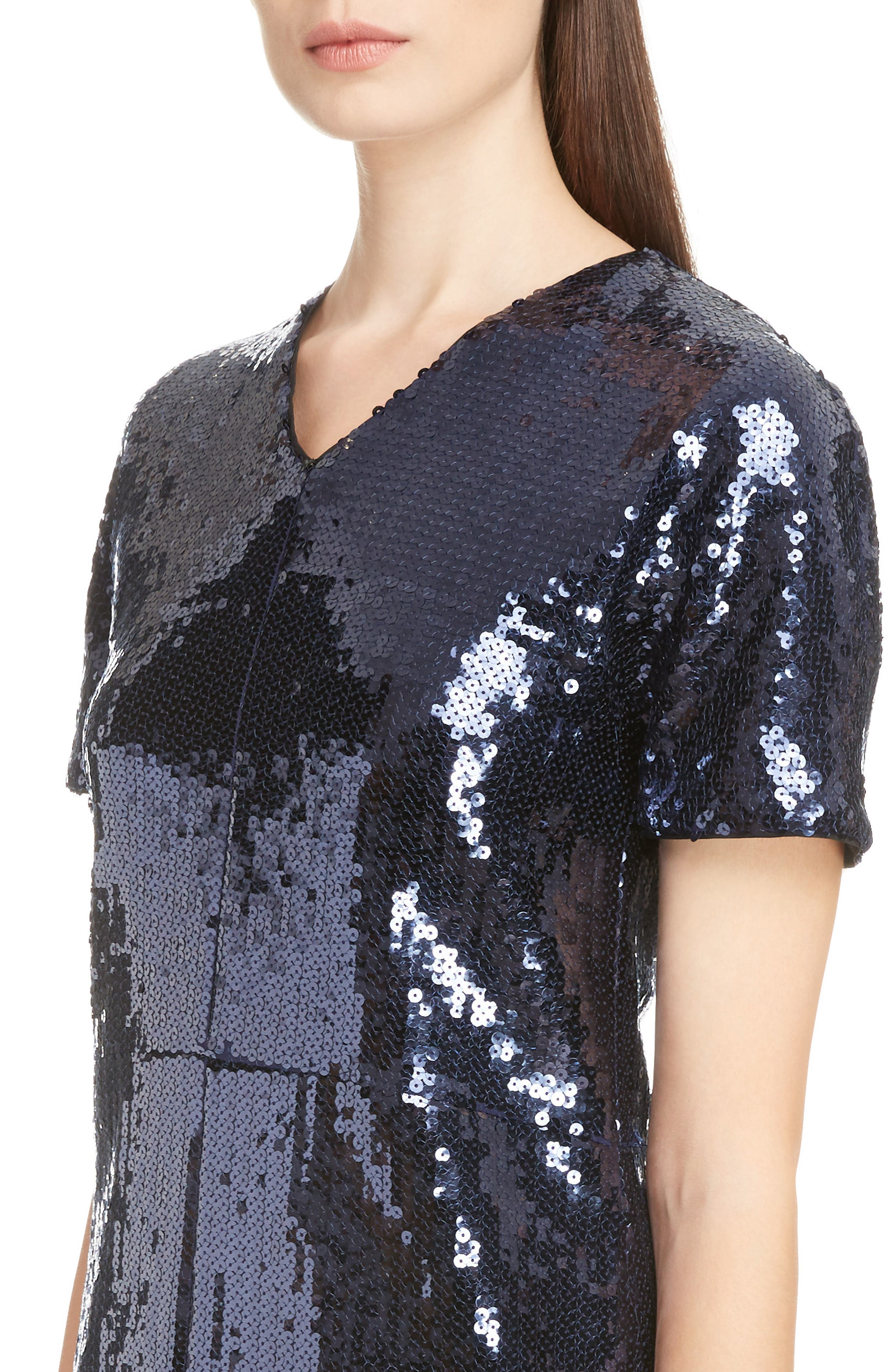 Sequin Shift Dress,                             Alternate thumbnail 4, color,                             400