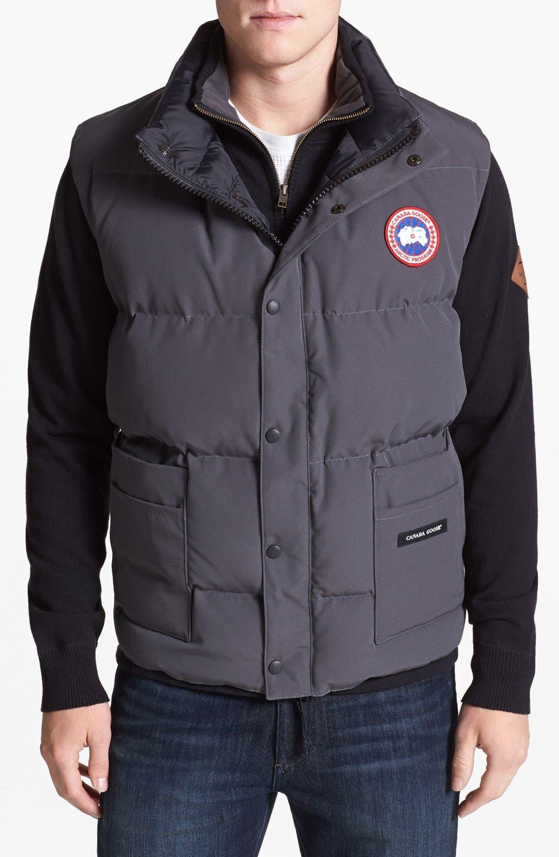 'Freestyle' Water Resistant Regular Fit Down Vest,                             Main thumbnail 1, color,                             021