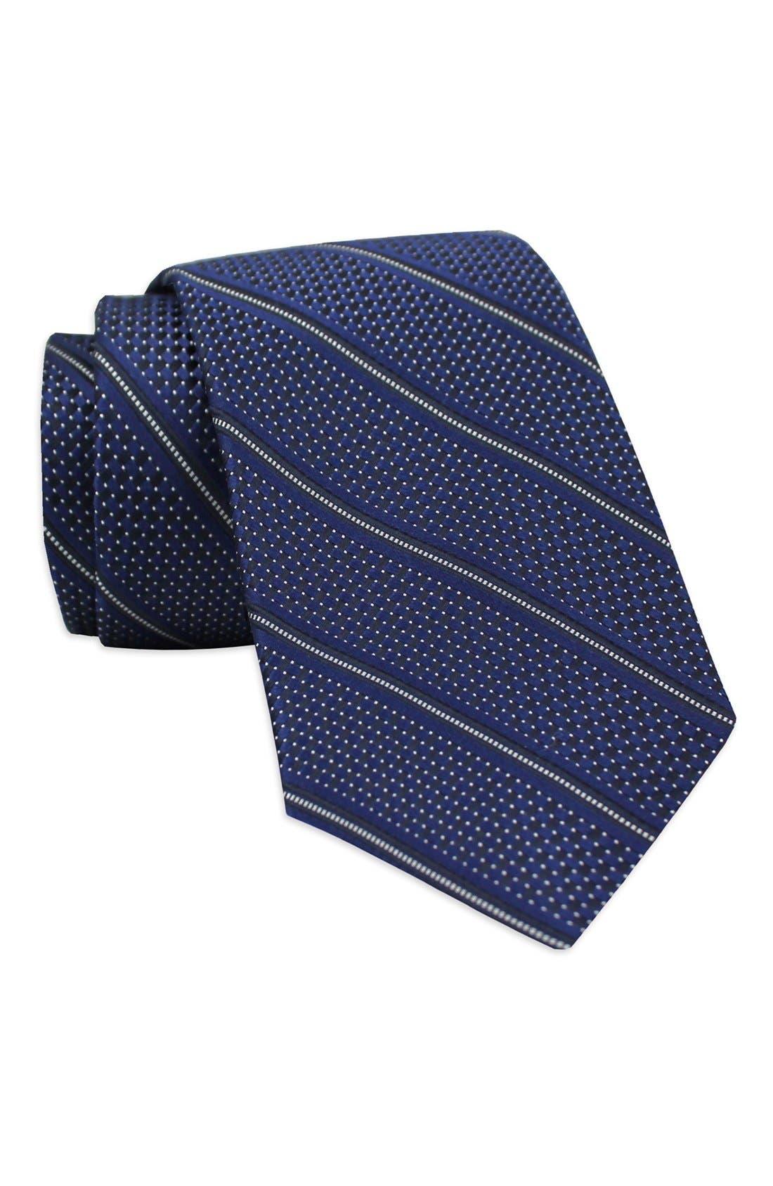 Stripe Woven Silk Tie,                             Main thumbnail 2, color,