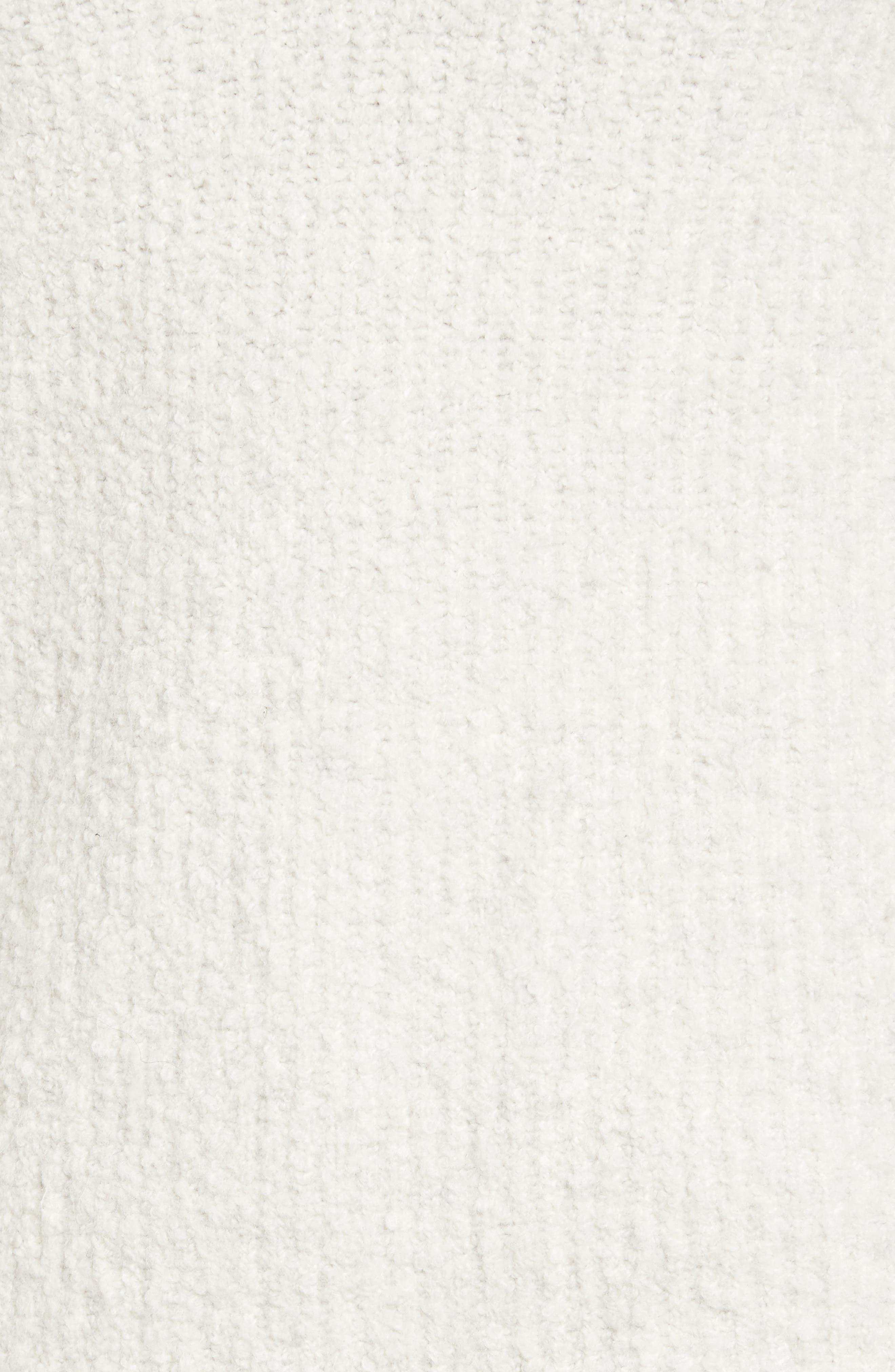 Bouclé V-neck Sweater,                             Alternate thumbnail 5, color,                             905