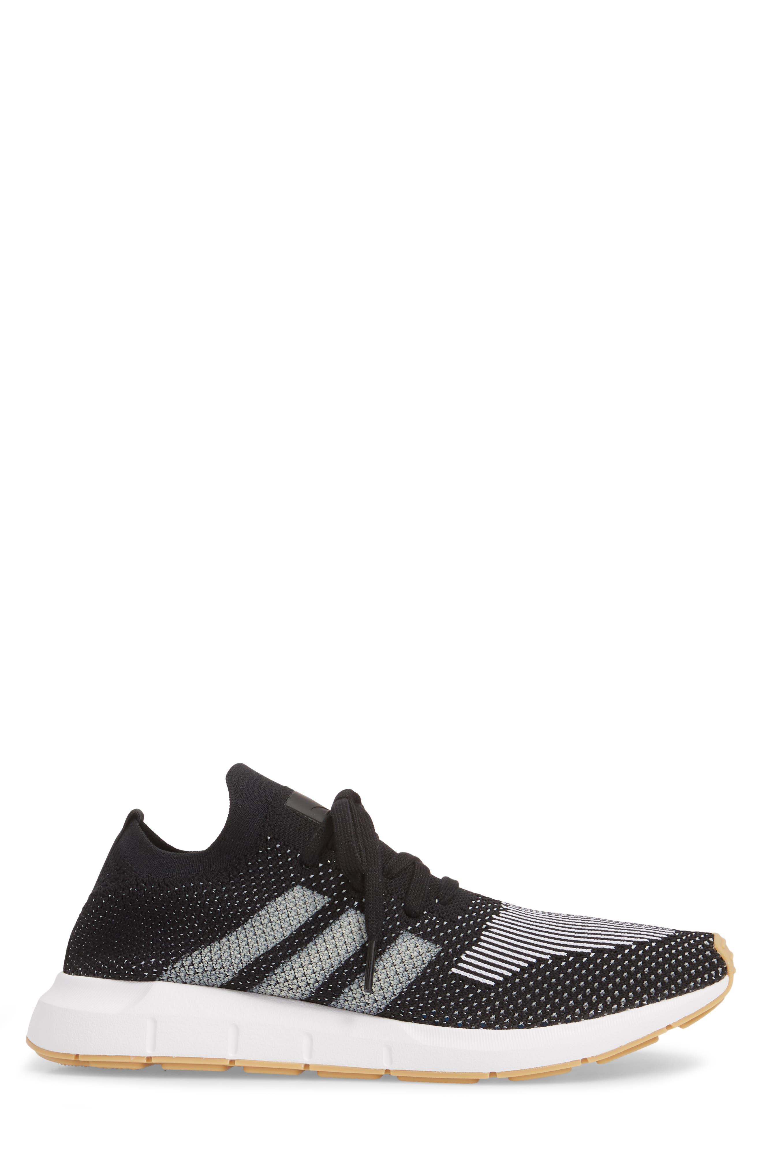 Swift Run Primeknit Sneaker,                             Alternate thumbnail 3, color,                             001