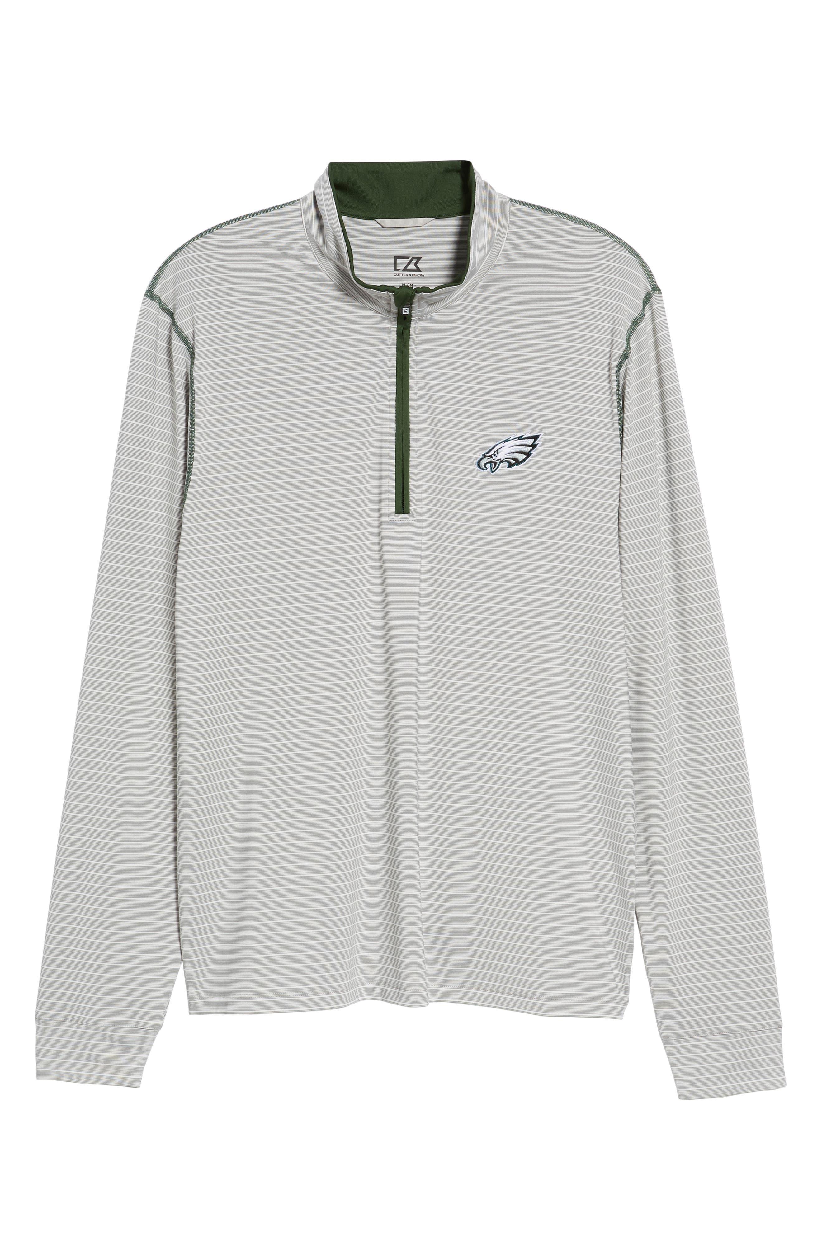 Meridian - Philadelphia Eagles Regular Fit Half Zip Pullover,                             Alternate thumbnail 6, color,                             HUNTER GREEN