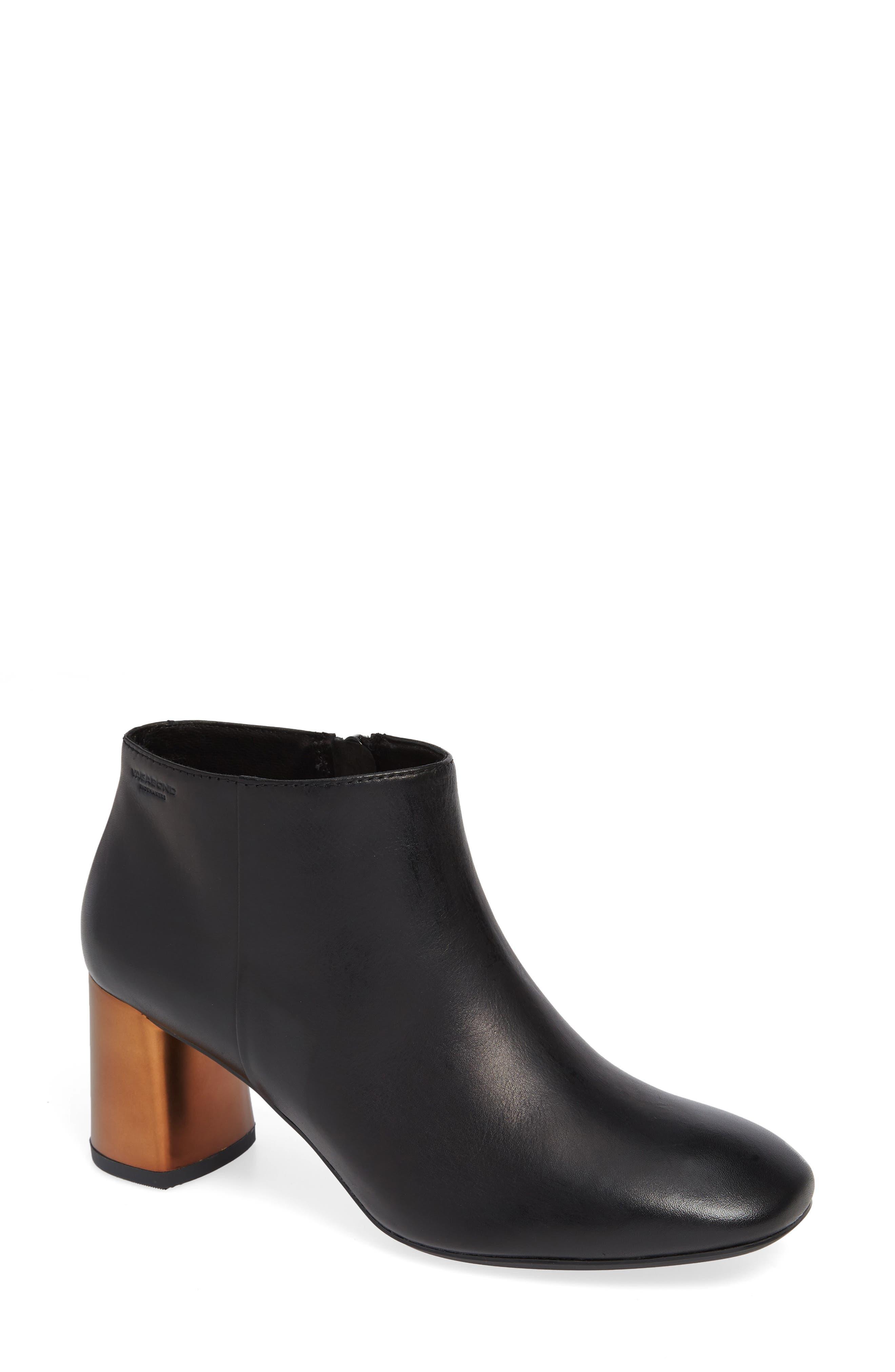 Vagabond Shoemakers Jeena Flared Heel Bootie, Black
