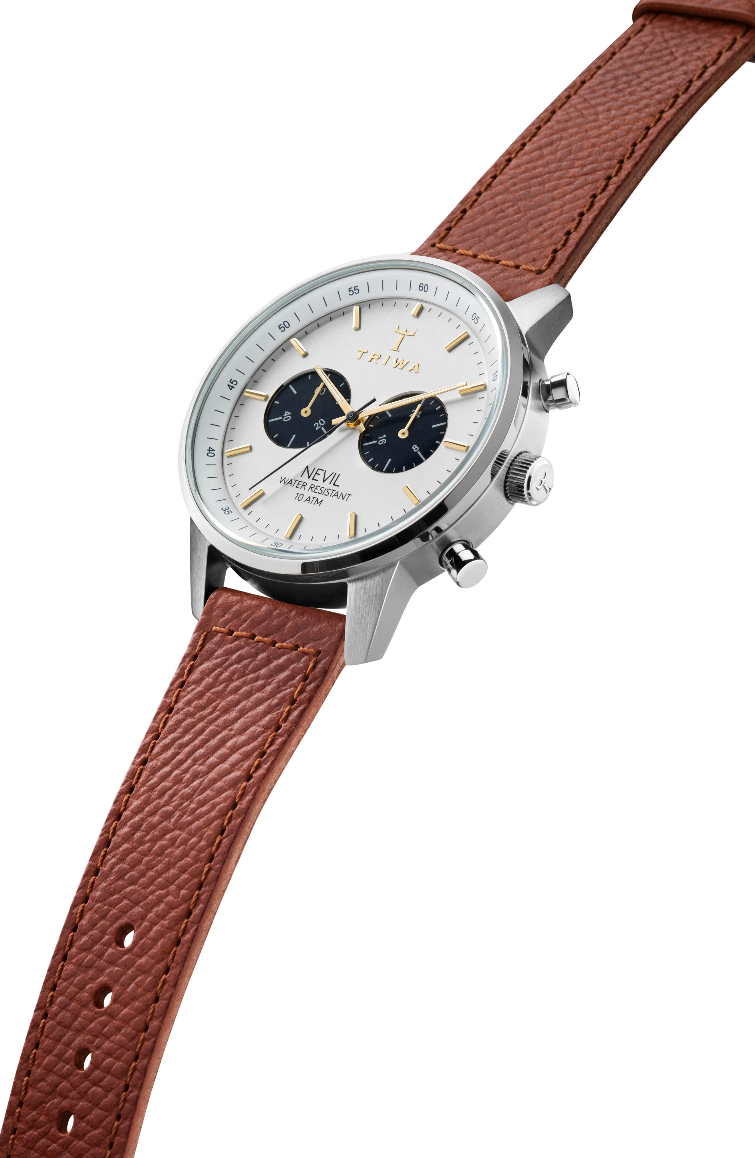 Loch Nevil Leather Strap Watch, 42mm,                             Alternate thumbnail 2, color,                             200