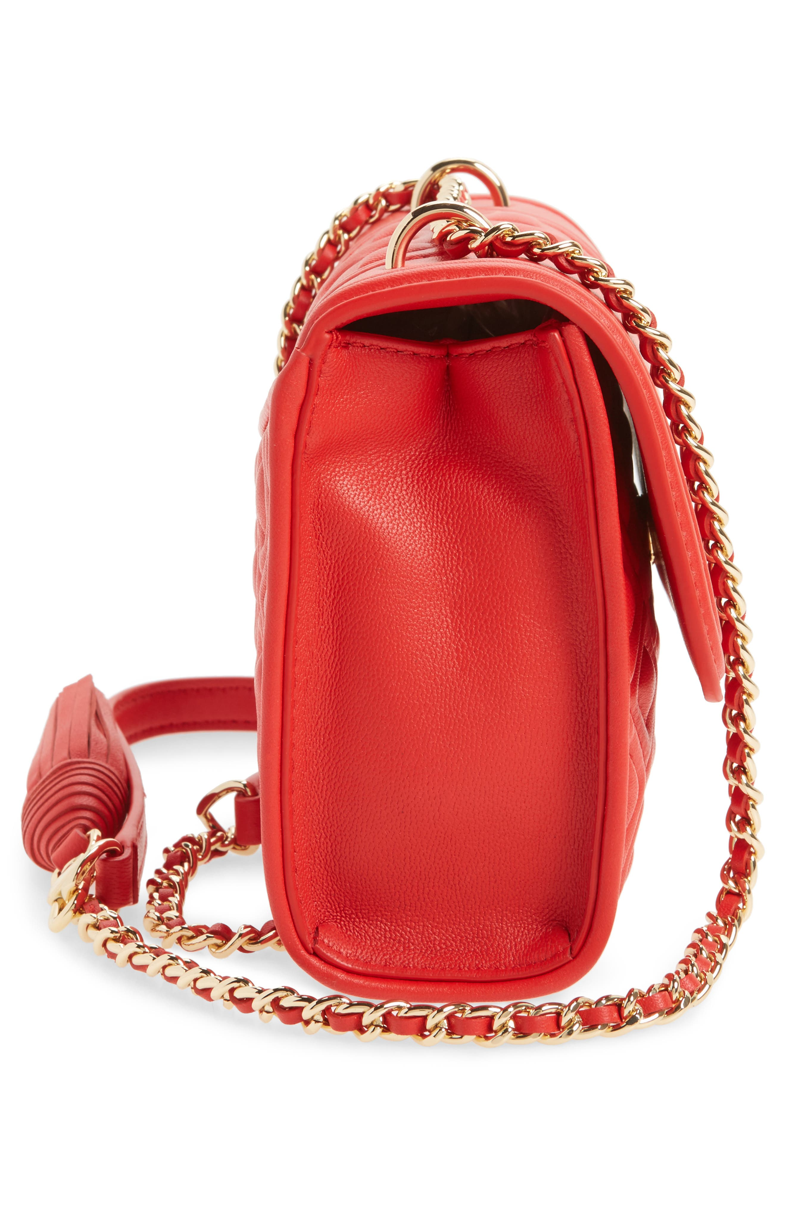 'Small Fleming' Quilted Leather Shoulder Bag,                             Alternate thumbnail 20, color,