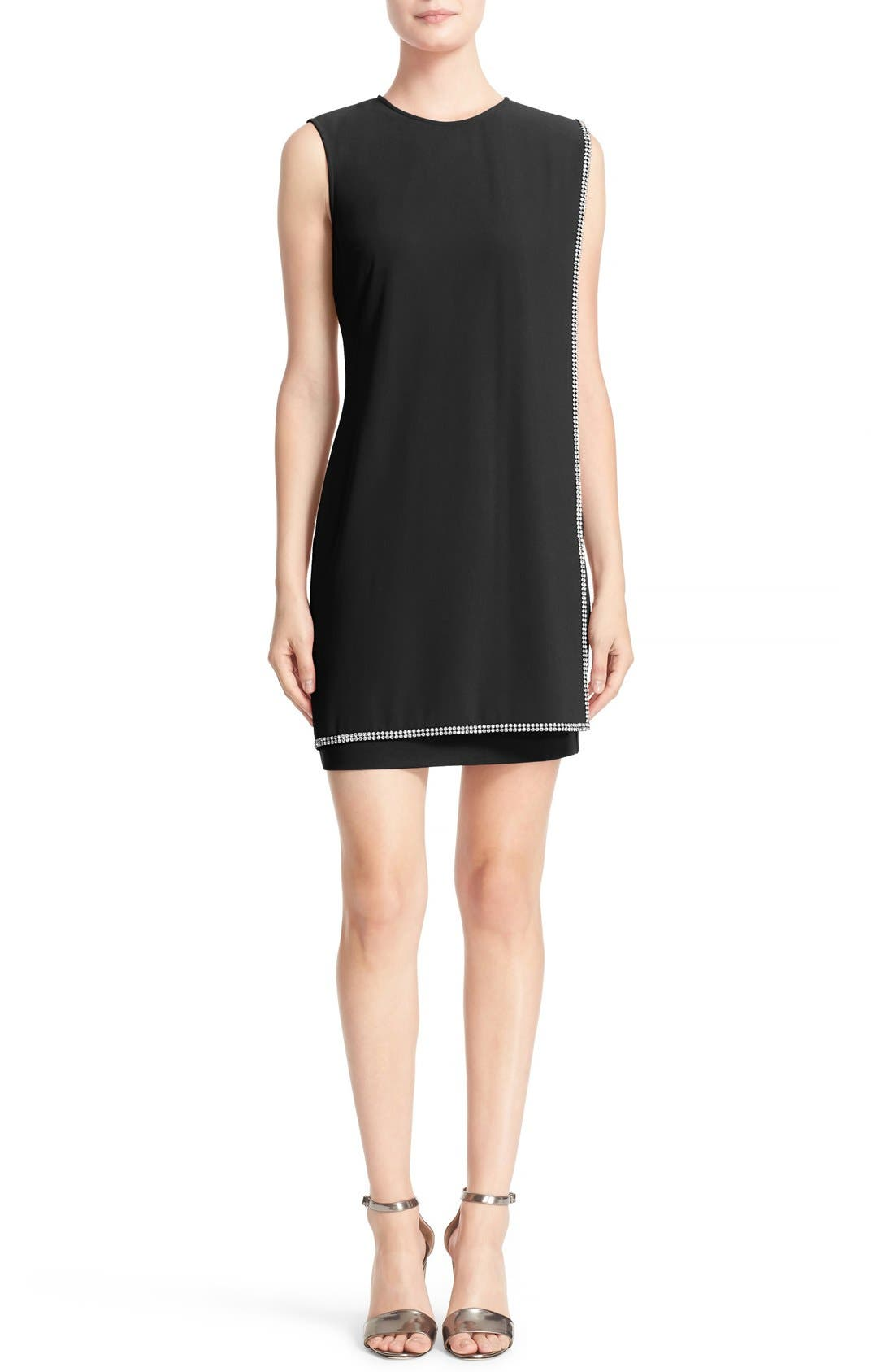 'Burford' Double Layer Embellished Dress, Main, color, 001