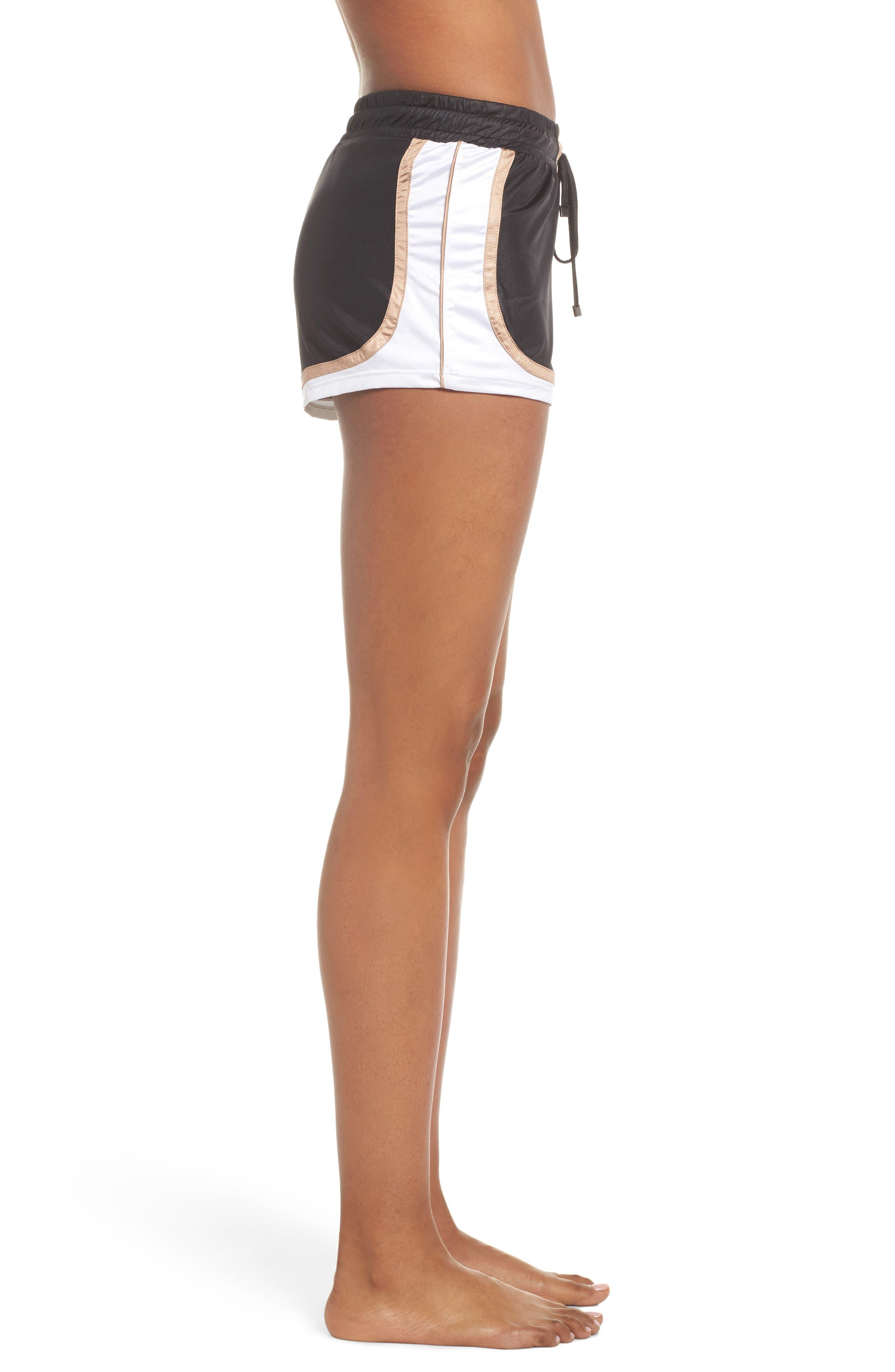 Blackout Shorts,                             Alternate thumbnail 3, color,                             BLACK/ NUDE/ WHITE