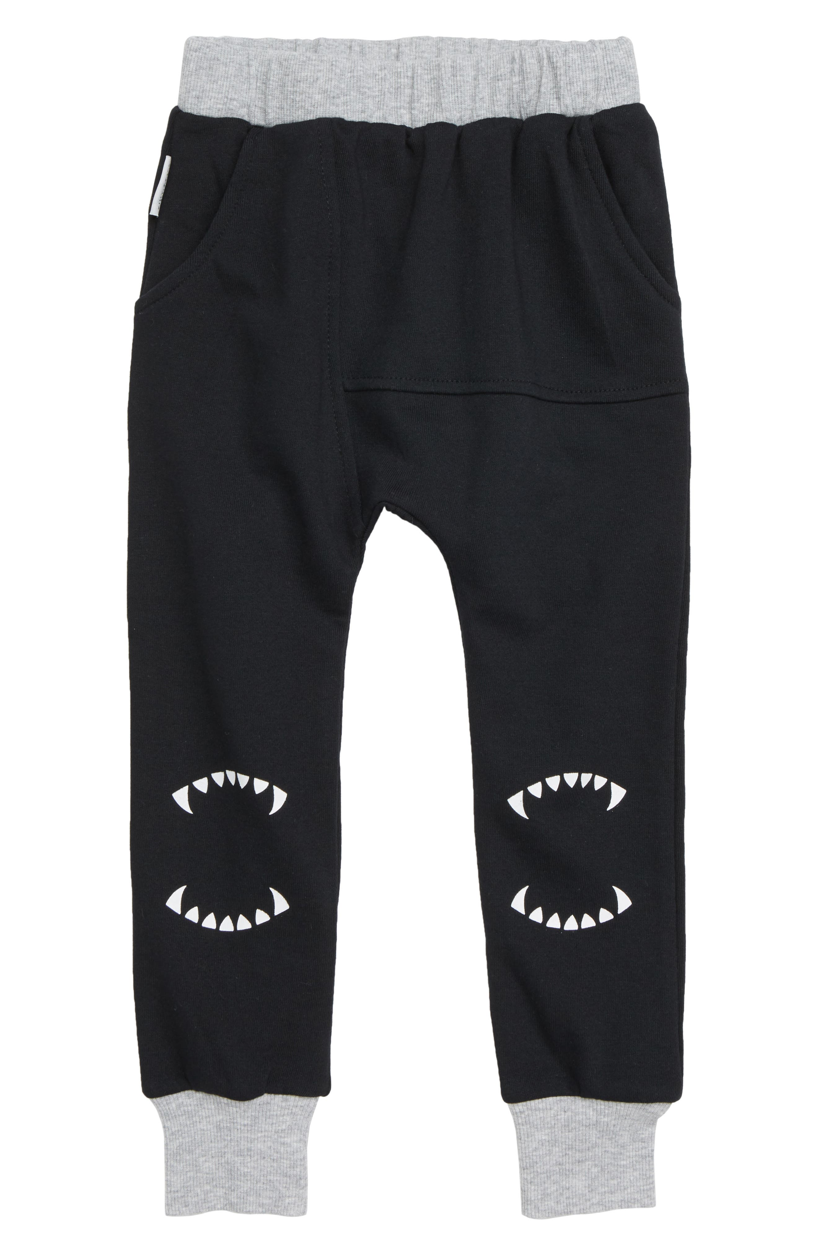 Teeth Graphic Cotton Jogger Pants,                         Main,                         color, 001