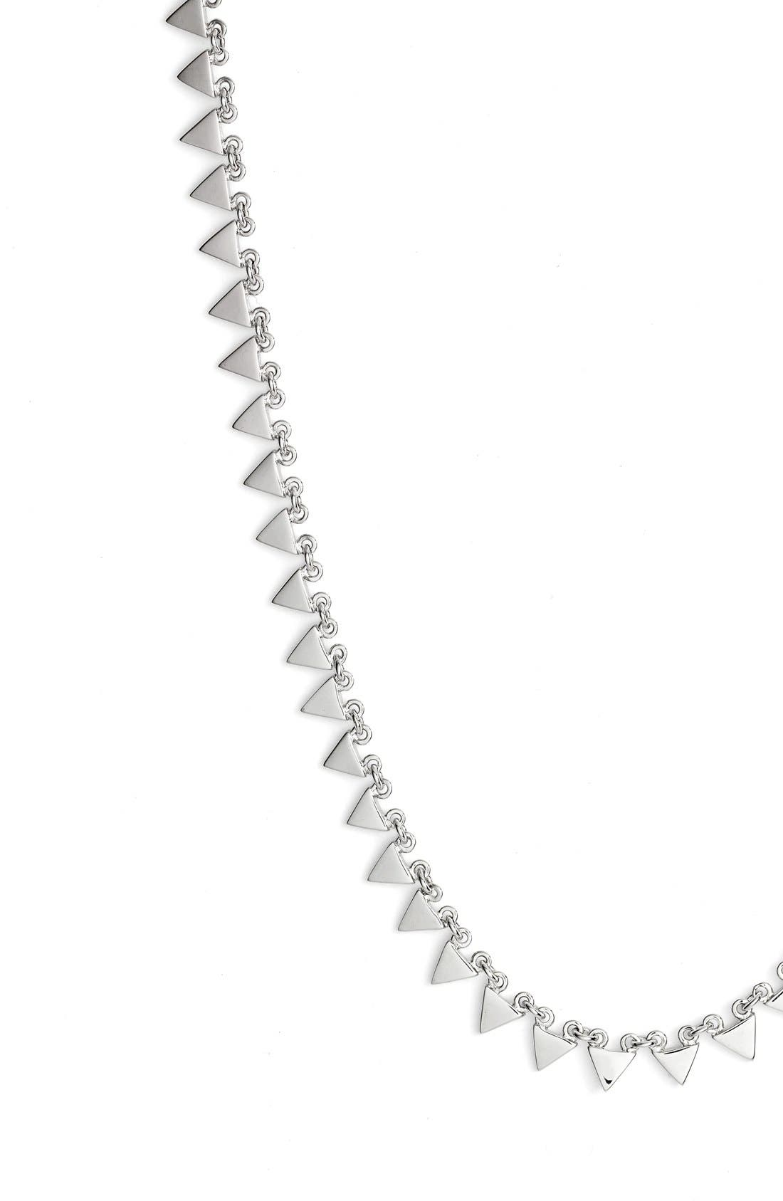 Triangle Collar Necklace,                             Alternate thumbnail 3, color,