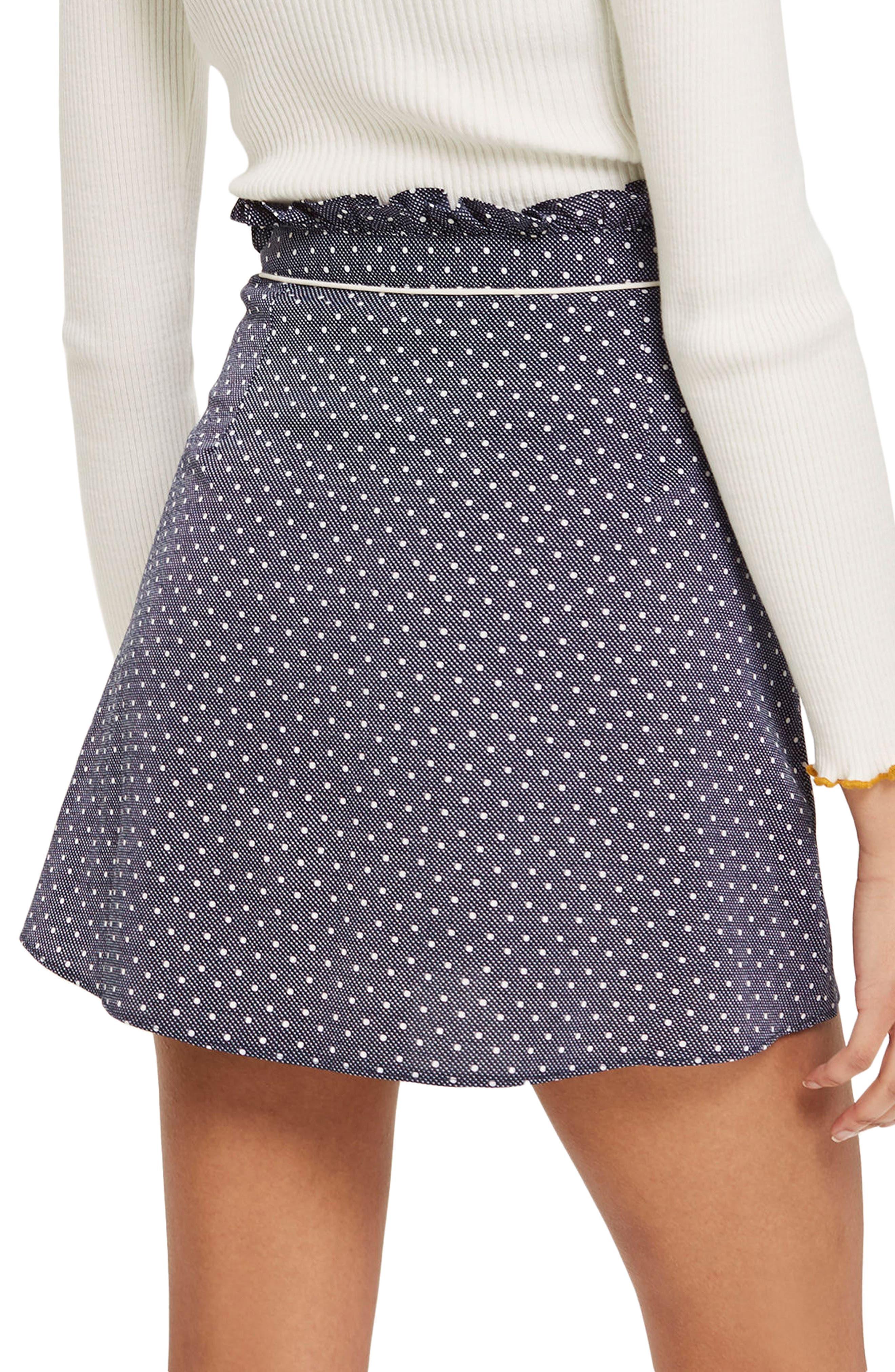 Spot Ruffle Miniskirt,                             Alternate thumbnail 2, color,                             411