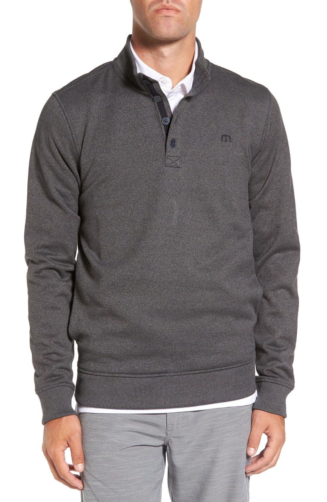 'Wall' Mock Neck Pullover,                         Main,                         color, QUIET SHADE/ BLACK