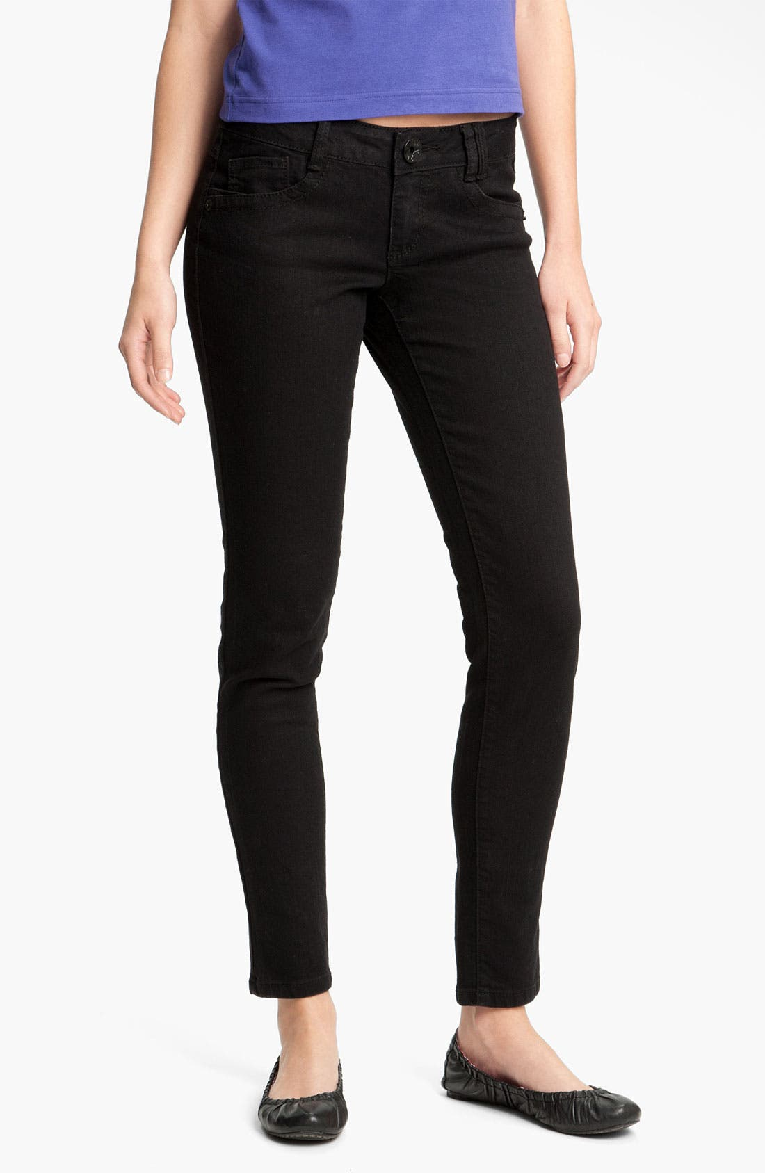 Stretch Skinny Jeans,                             Alternate thumbnail 2, color,                             002