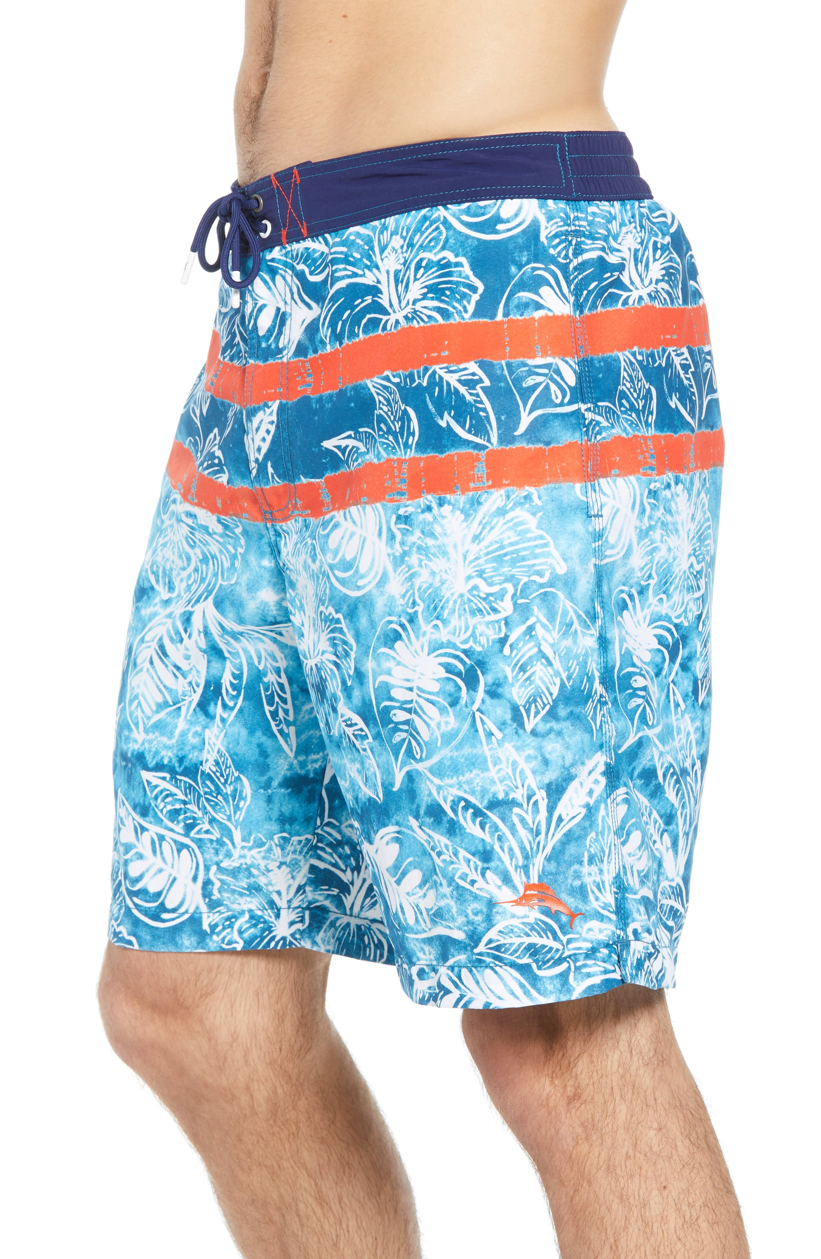 Baja Mar Batik Print Board Shorts,                             Alternate thumbnail 3, color,                             RIVIERA AZURE