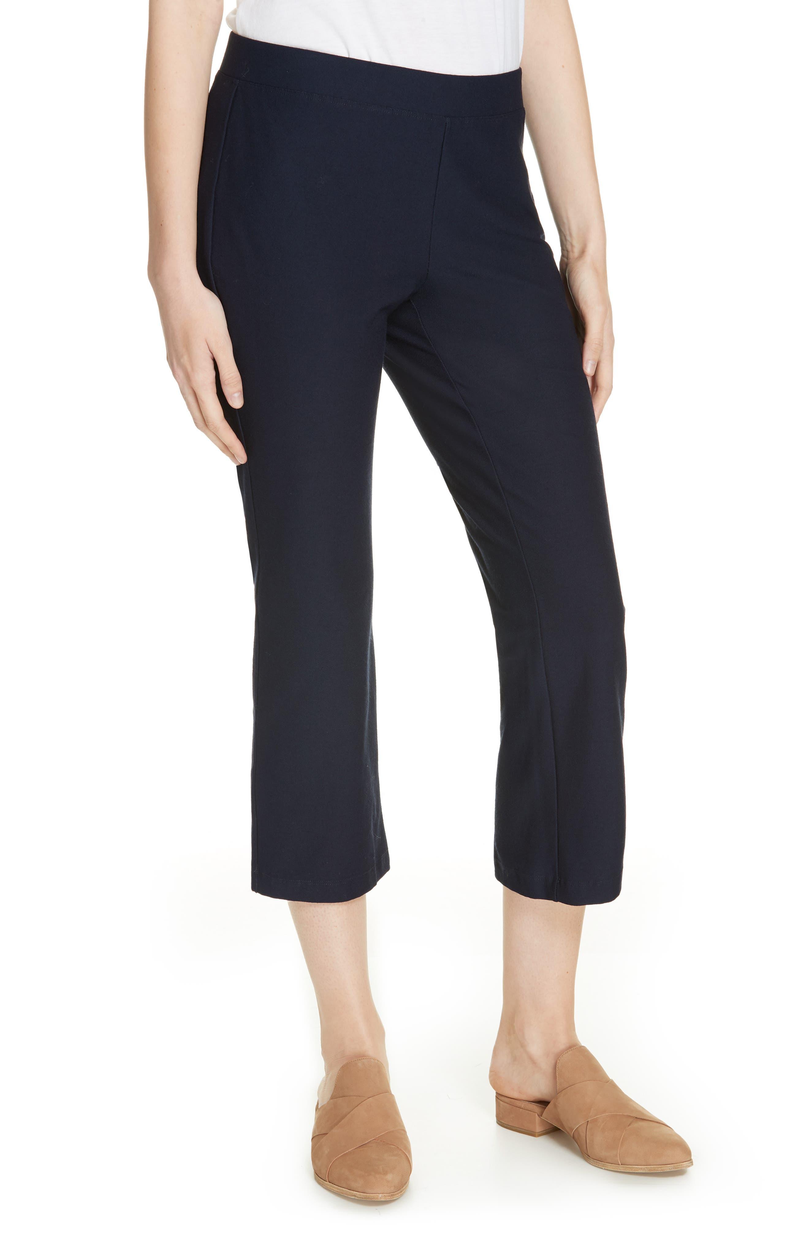 Eileen Fisher Capri Flare Leg Pants, Blue
