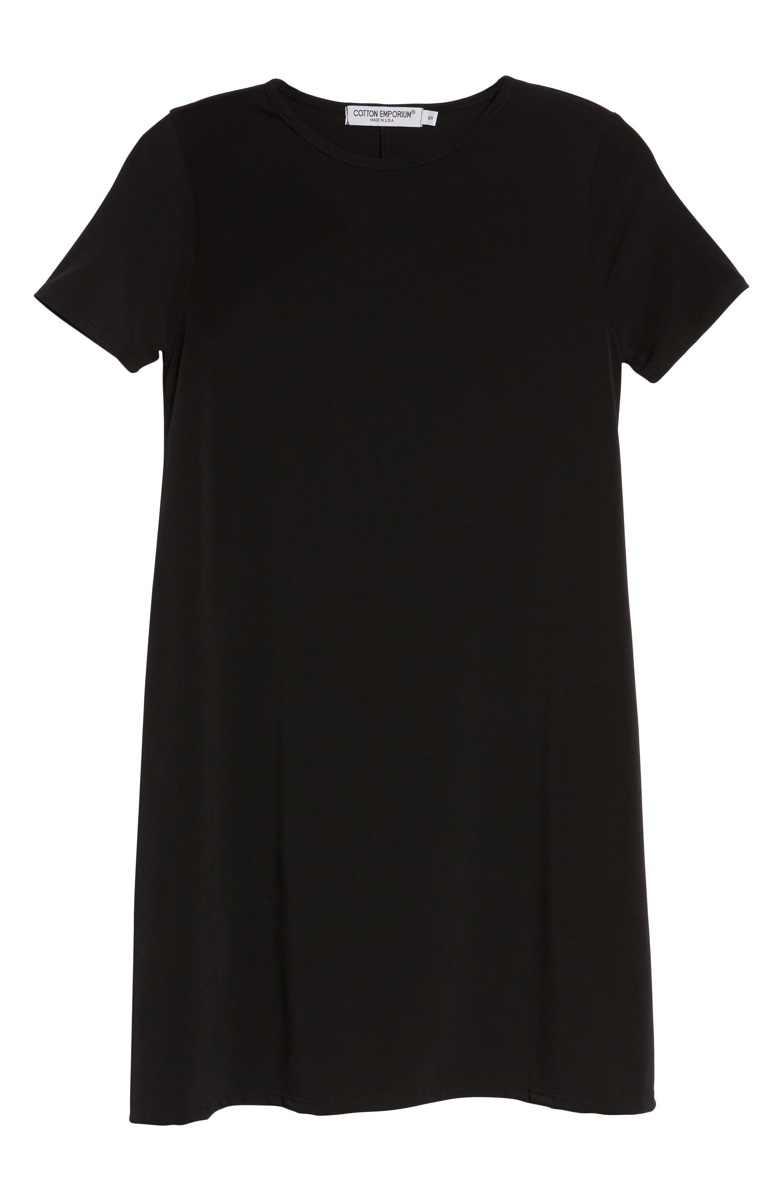 Swing T-Shirt Dress,                             Alternate thumbnail 7, color,                             001