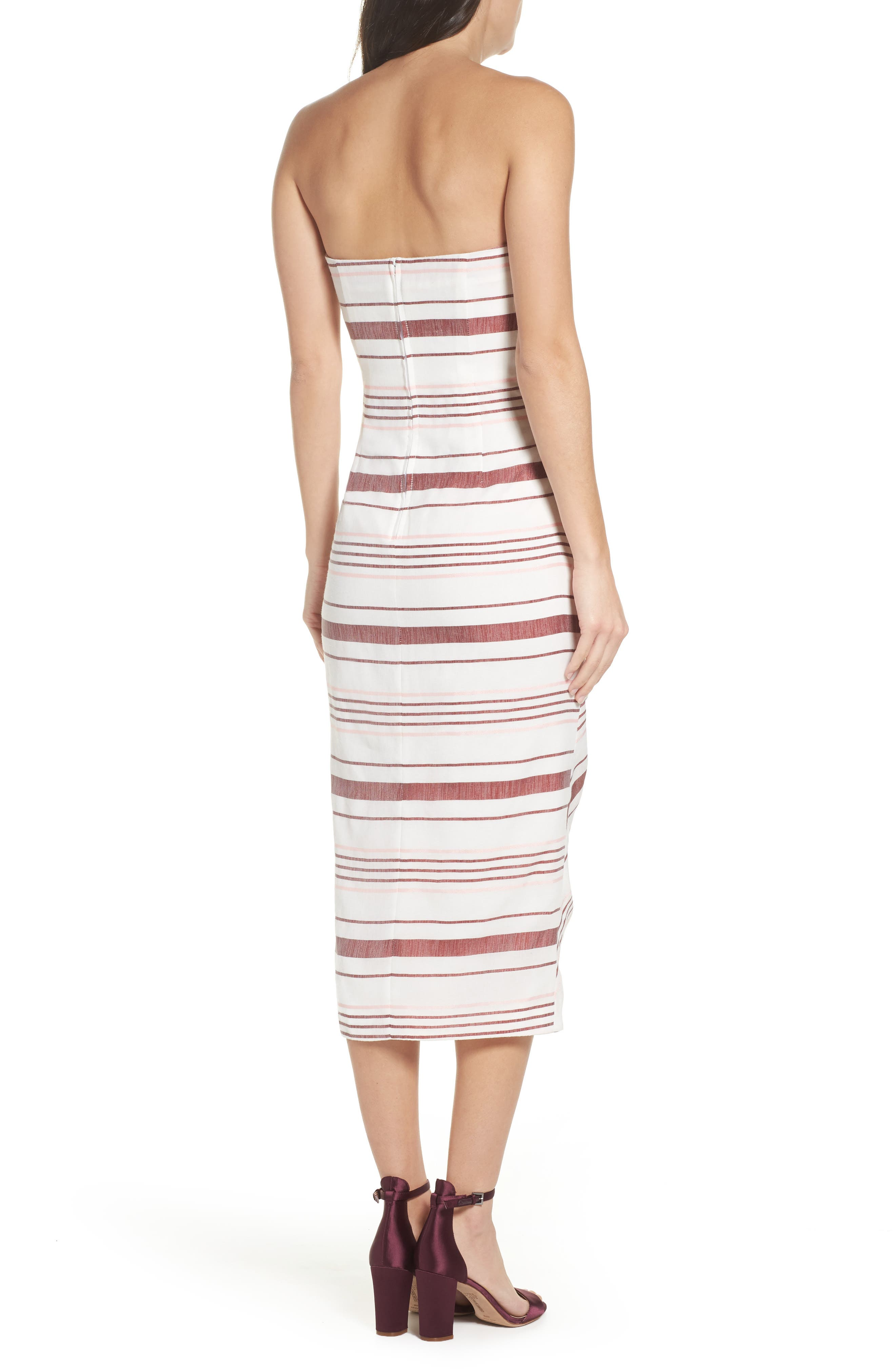 On Her Own Strapless Midi Dress,                             Alternate thumbnail 2, color,                             900