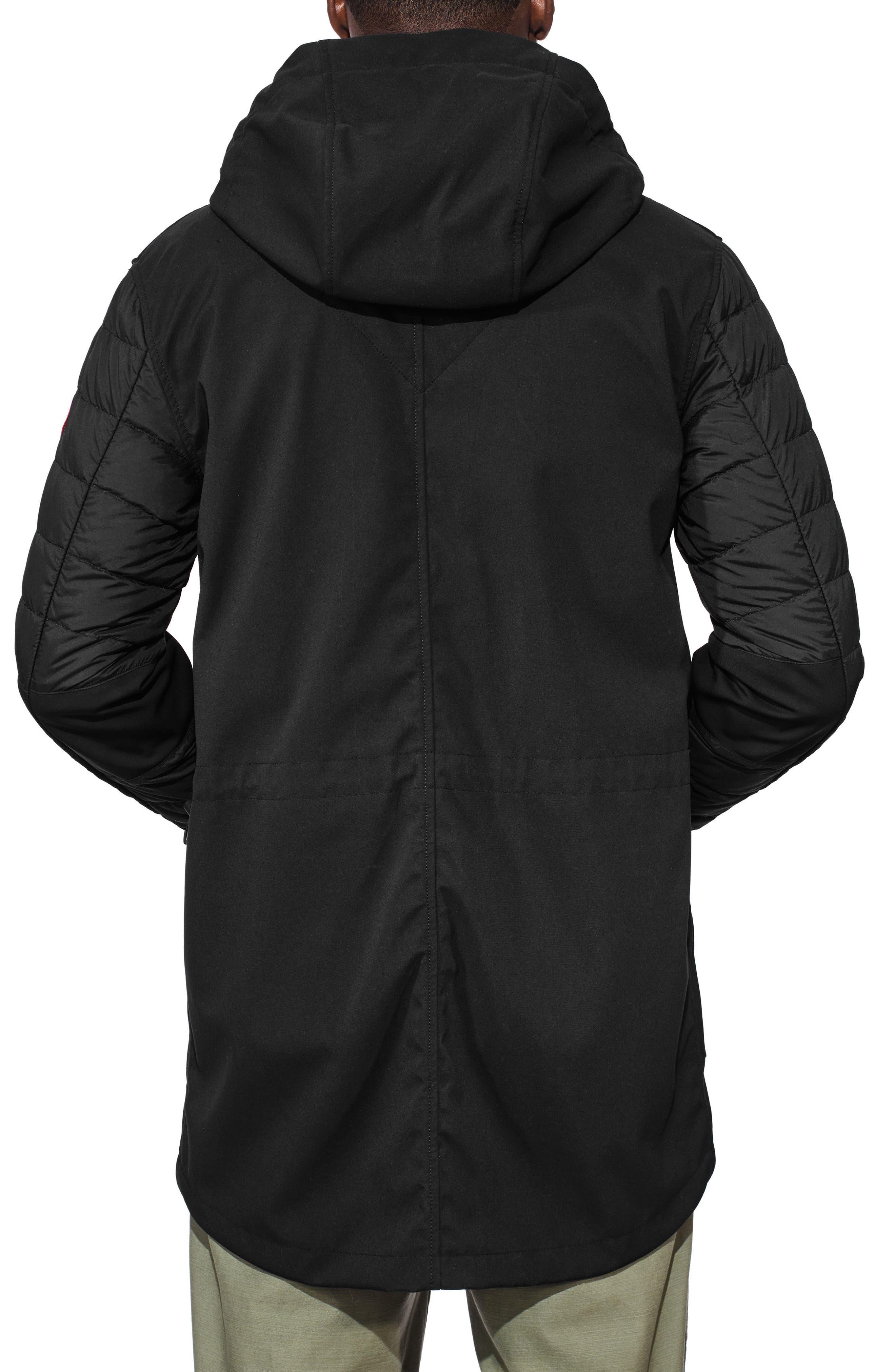 Selwyn Down Filled Coat,                             Alternate thumbnail 2, color,                             BLACK/ BLACK
