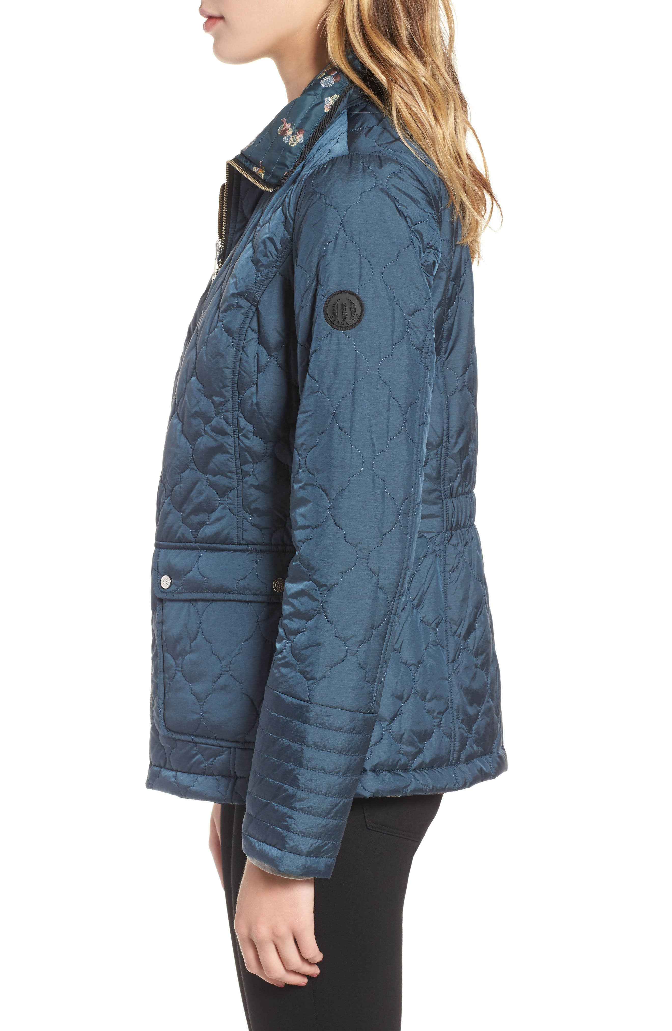Reversible Insulated Quilted Jacket,                             Alternate thumbnail 3, color,
