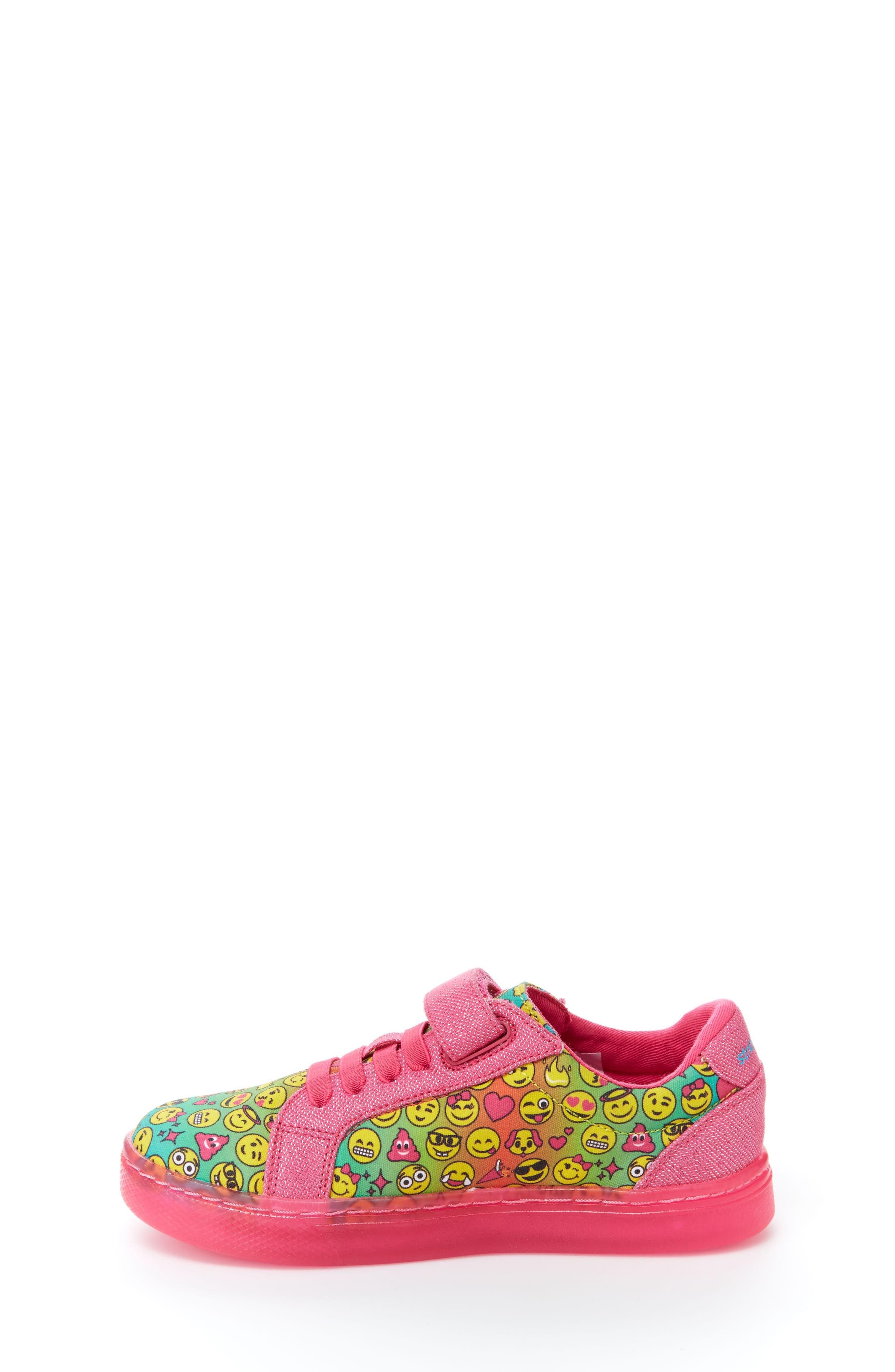 Raz Emoji Light-Up Sneaker,                             Alternate thumbnail 9, color,                             650