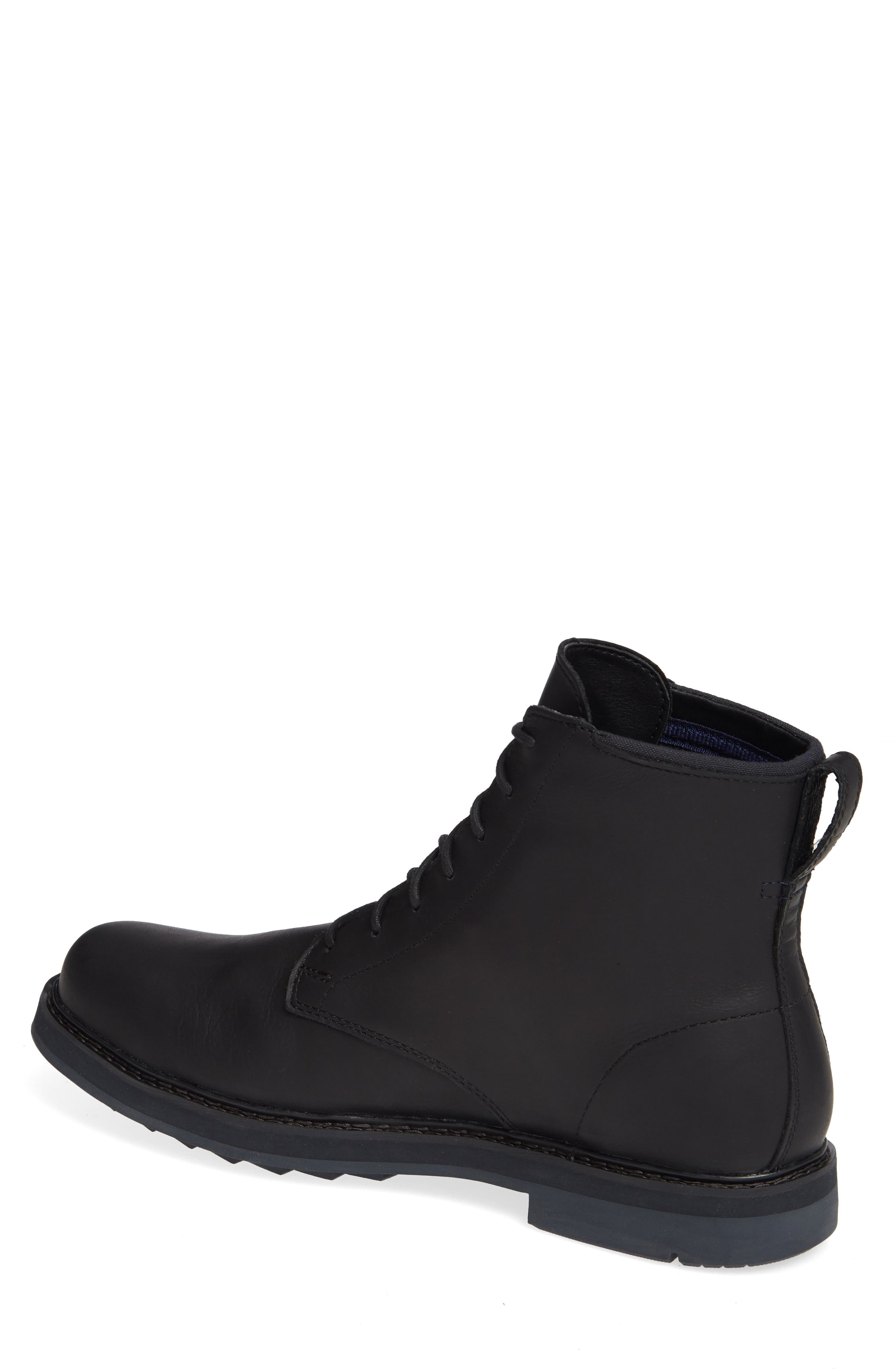 Squall Canyon Waterproof Plain Toe Boot,                             Alternate thumbnail 2, color,                             BLACK LEATHER