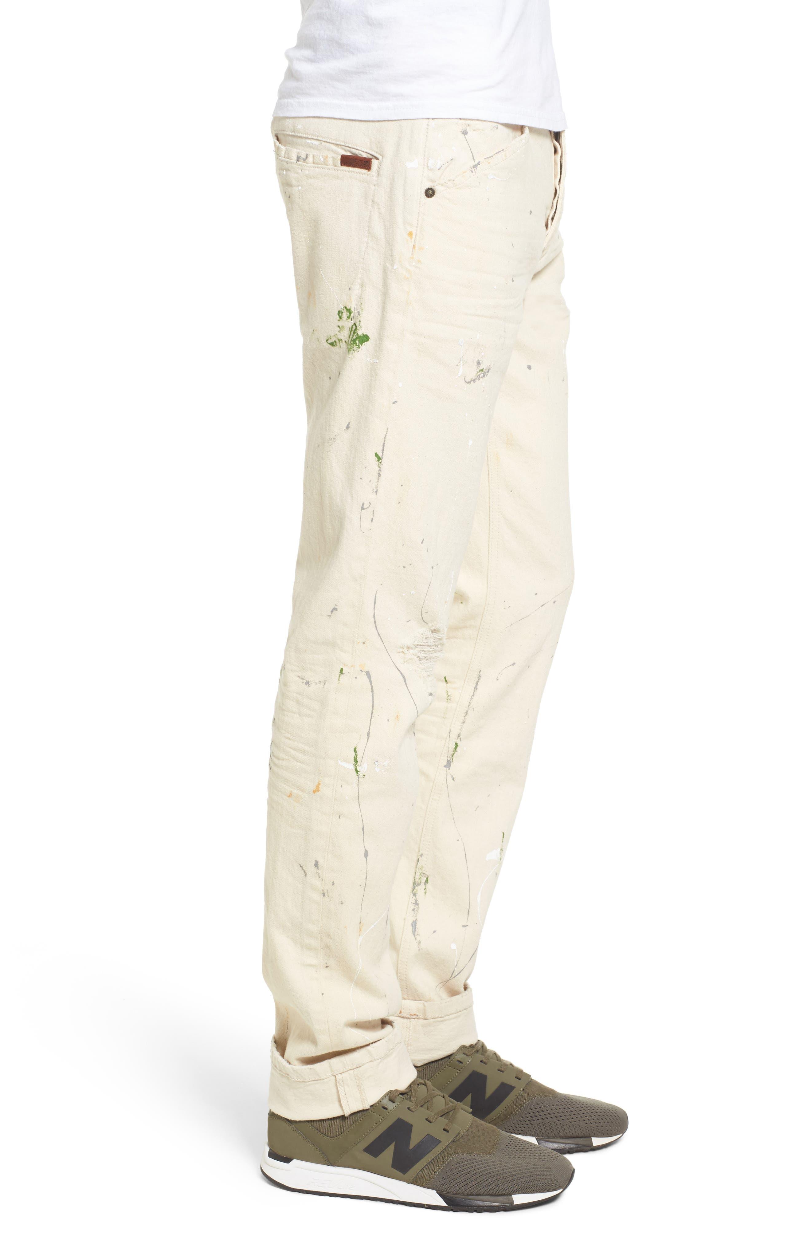 Standard Slouchy Slim Fit Jeans,                             Alternate thumbnail 3, color,                             110