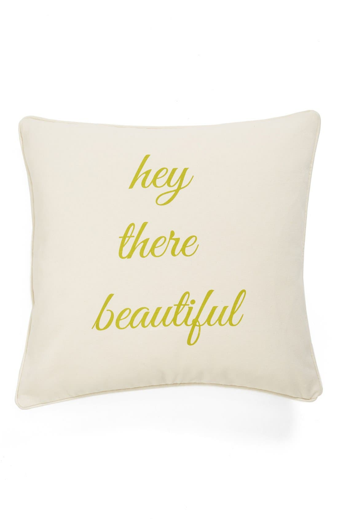 'Hey There Beautiful/Good Morning Handsome' Reversible Decorative Pillow,                             Alternate thumbnail 2, color,                             900