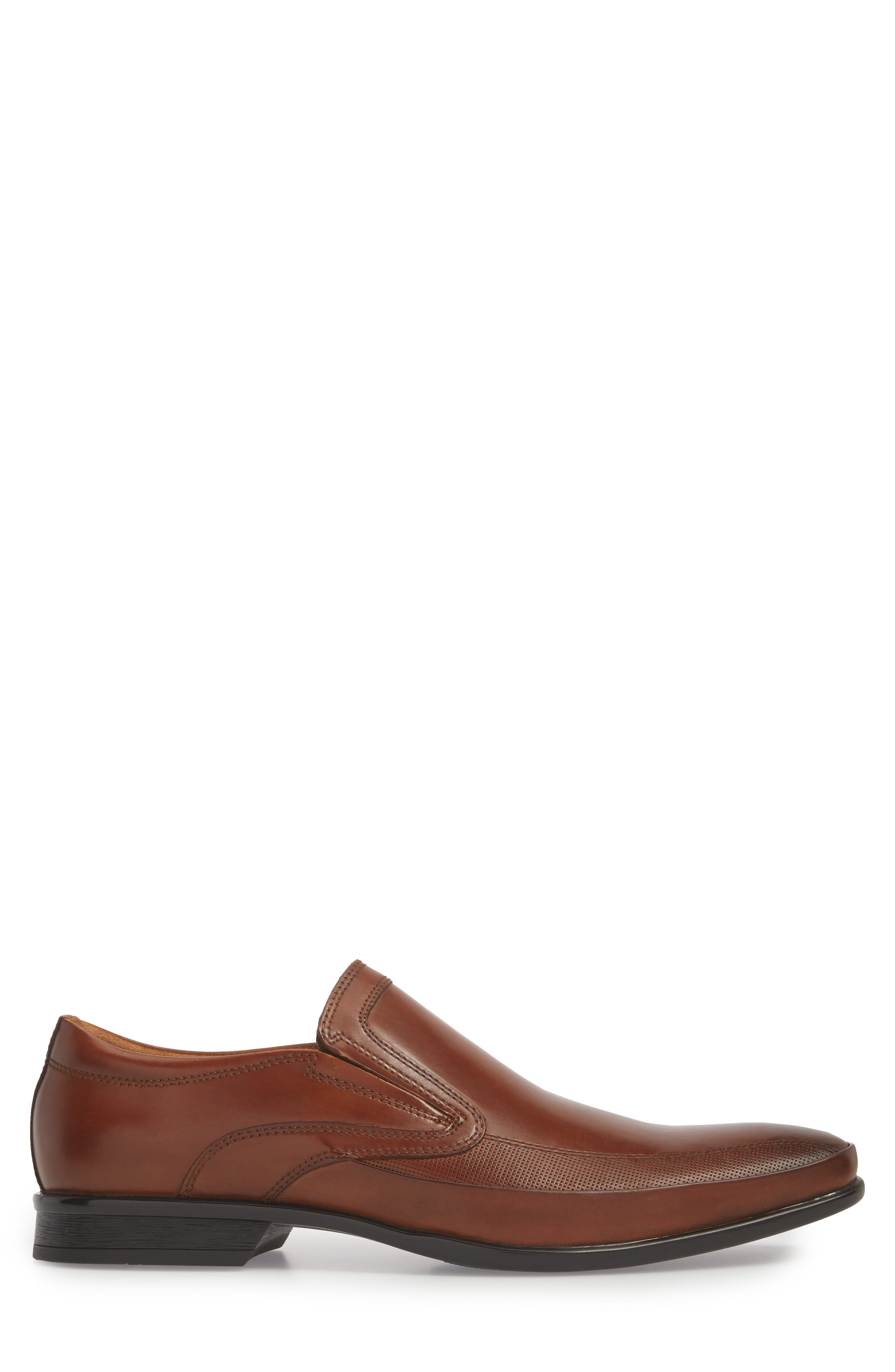 'Extra Official' Venetian Loafer,                             Alternate thumbnail 3, color,                             COGNAC LEATHER