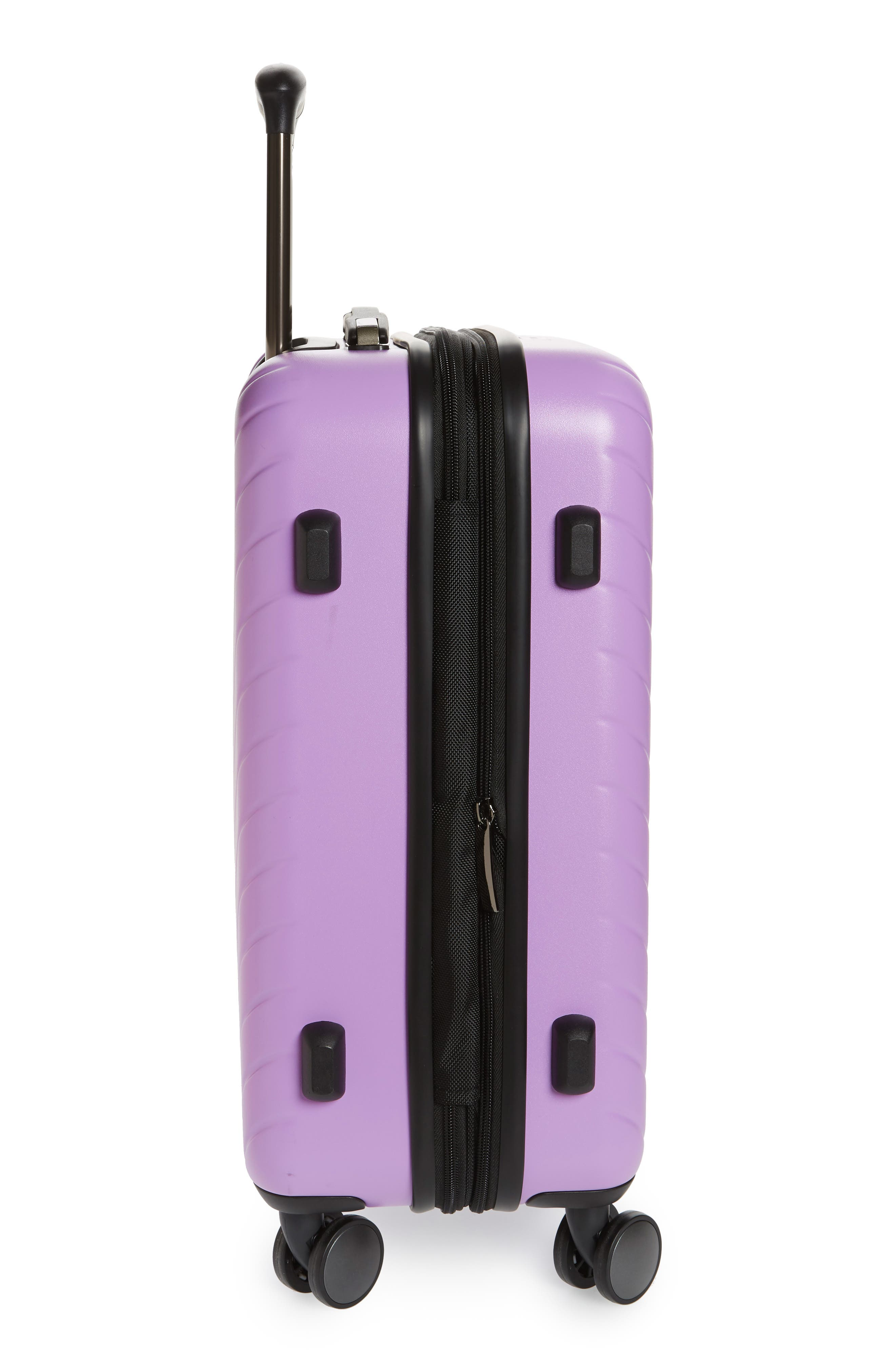 Chevron 18-Inch Spinner Carry-On,                             Alternate thumbnail 3, color,                             LAVENDER SWEET