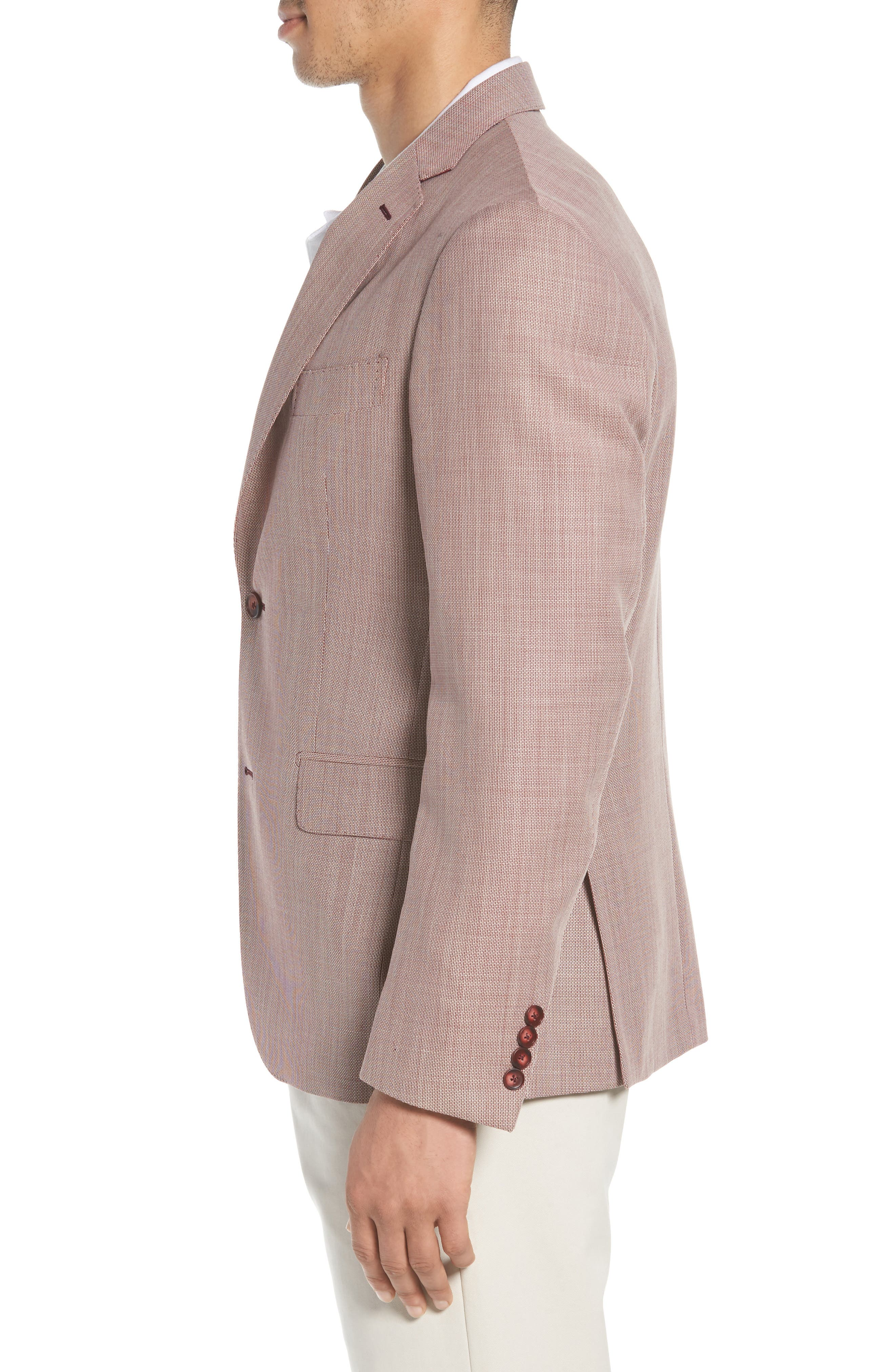 Traditional Fit Wool Sport Coat,                             Alternate thumbnail 3, color,                             610
