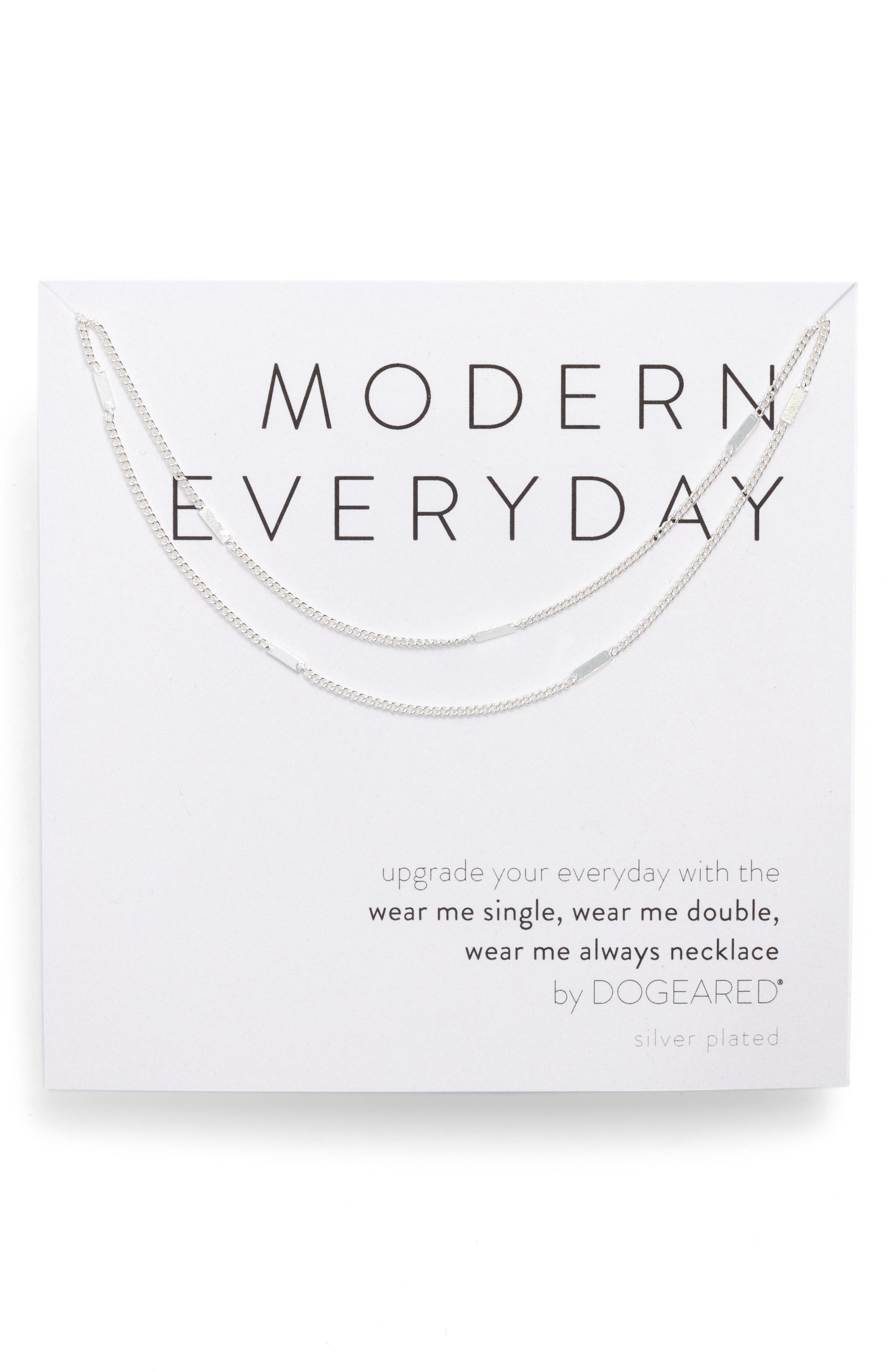 DOGEARED Modern Everyday Wear Me Necklace in Silver