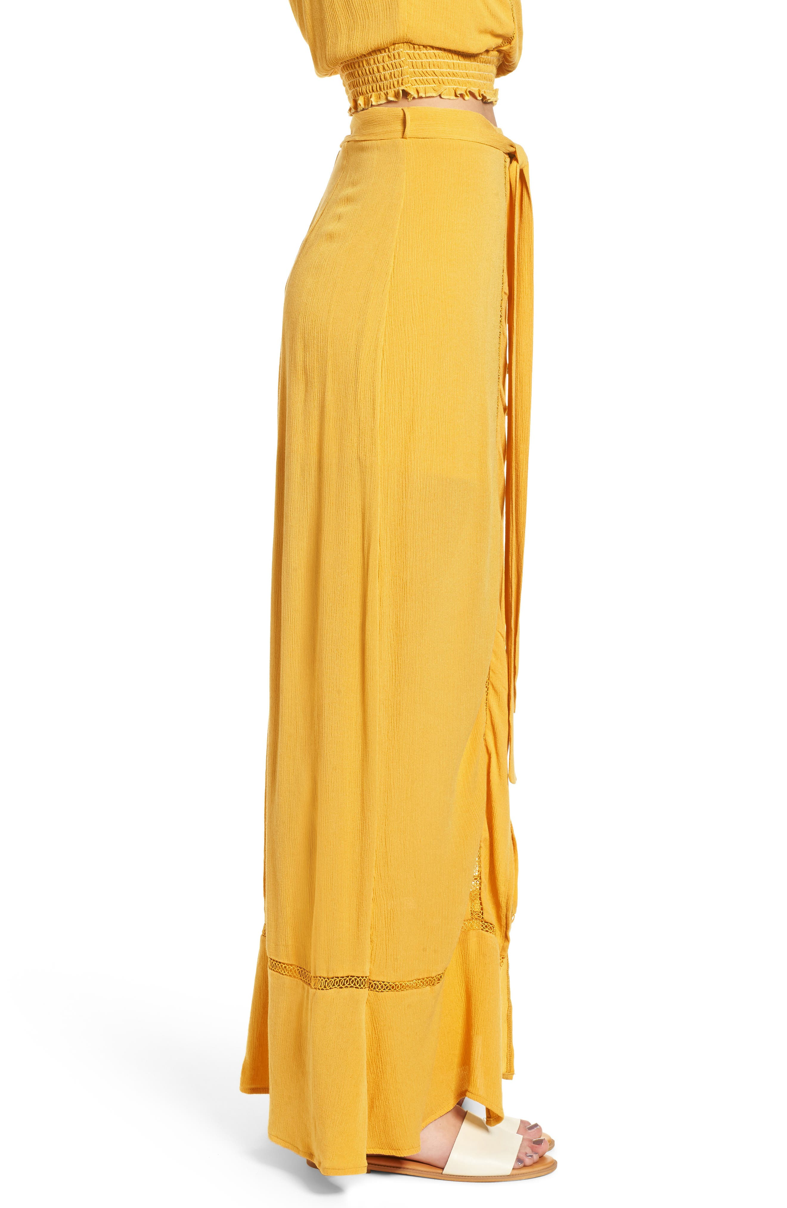 Slit Front Crochet Inset Maxi Skirt,                             Alternate thumbnail 3, color,                             720