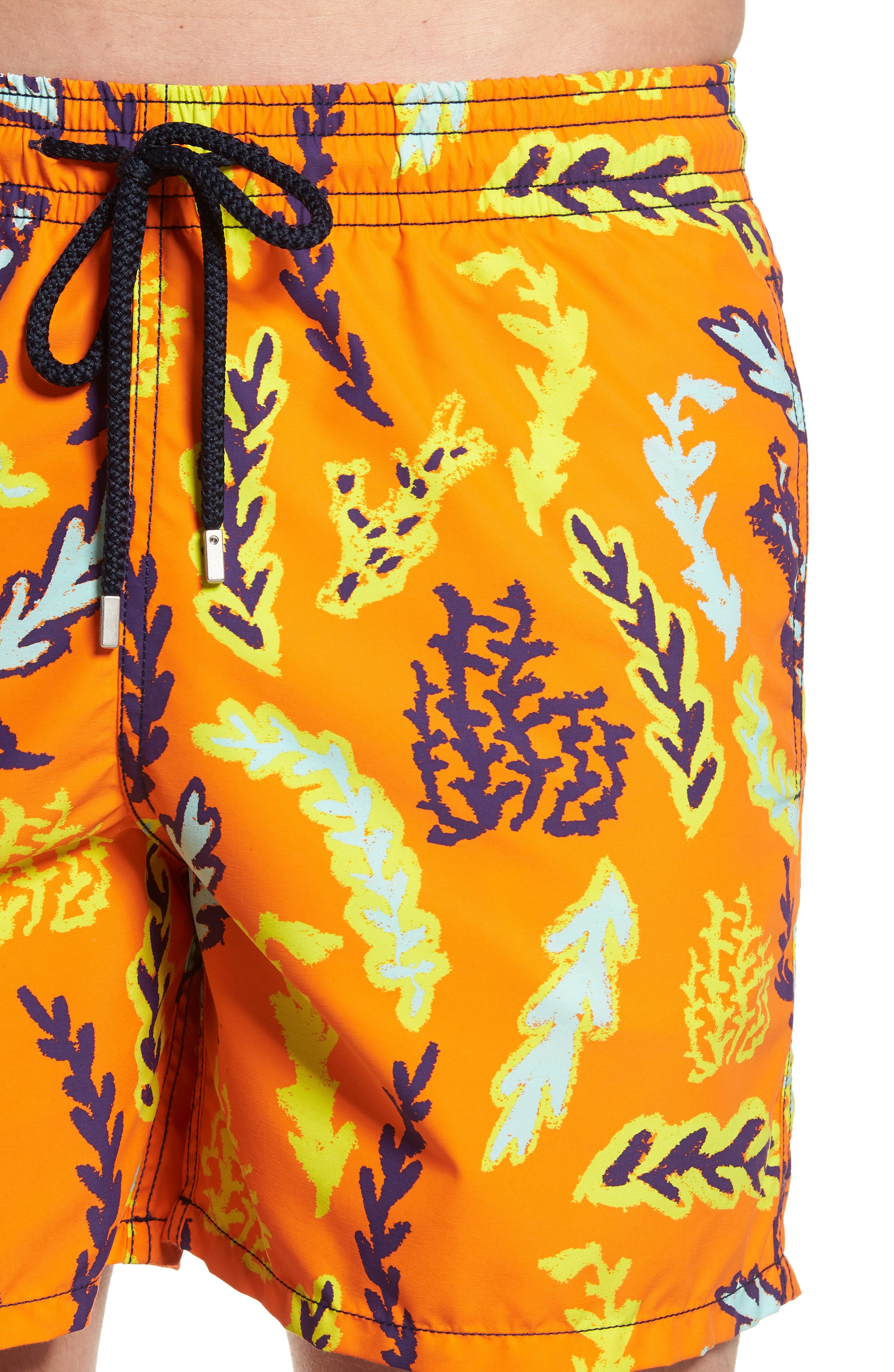Solar Seaweed Print Swim Trunks,                             Alternate thumbnail 5, color,                             812