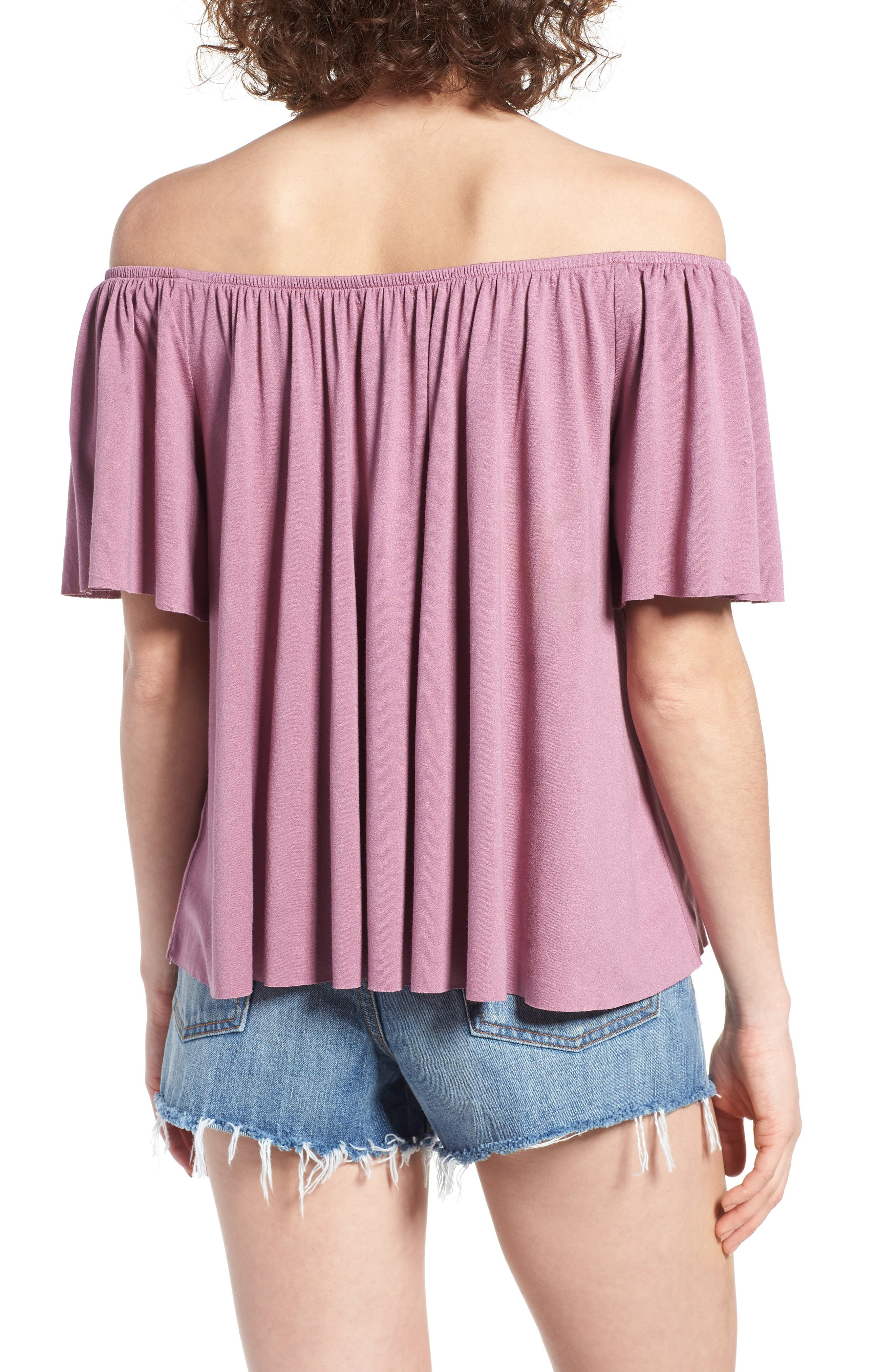 Off the Shoulder Top,                             Alternate thumbnail 15, color,