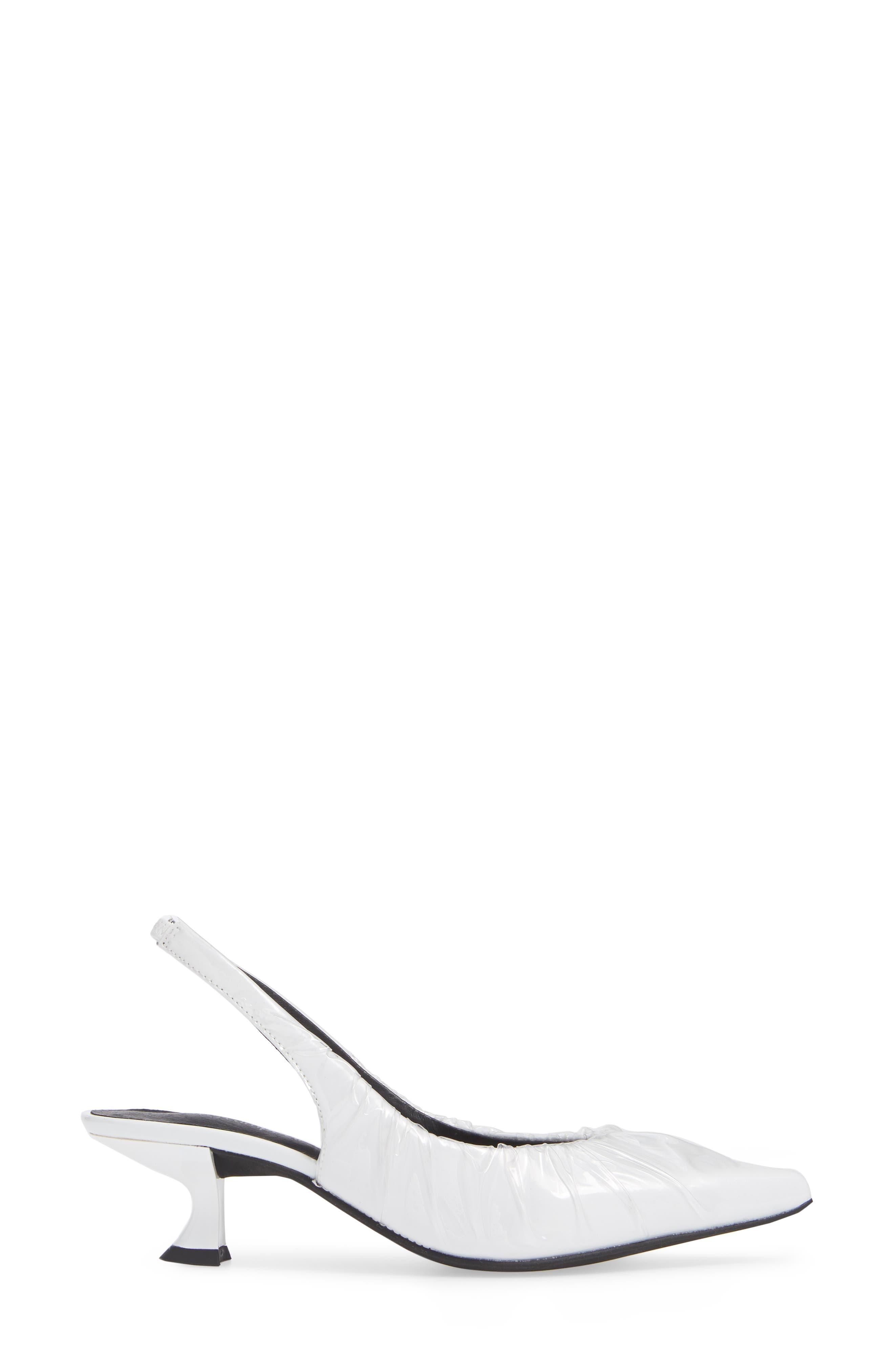 Amulet Slingback Pump,                             Alternate thumbnail 3, color,                             WHITE BOX CLEAR