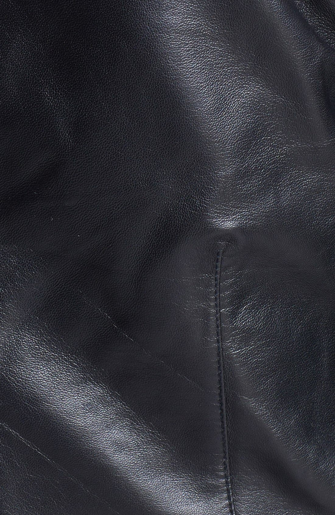 VEDA,                             'Max' Leather Moto Jacket,                             Alternate thumbnail 2, color,                             001