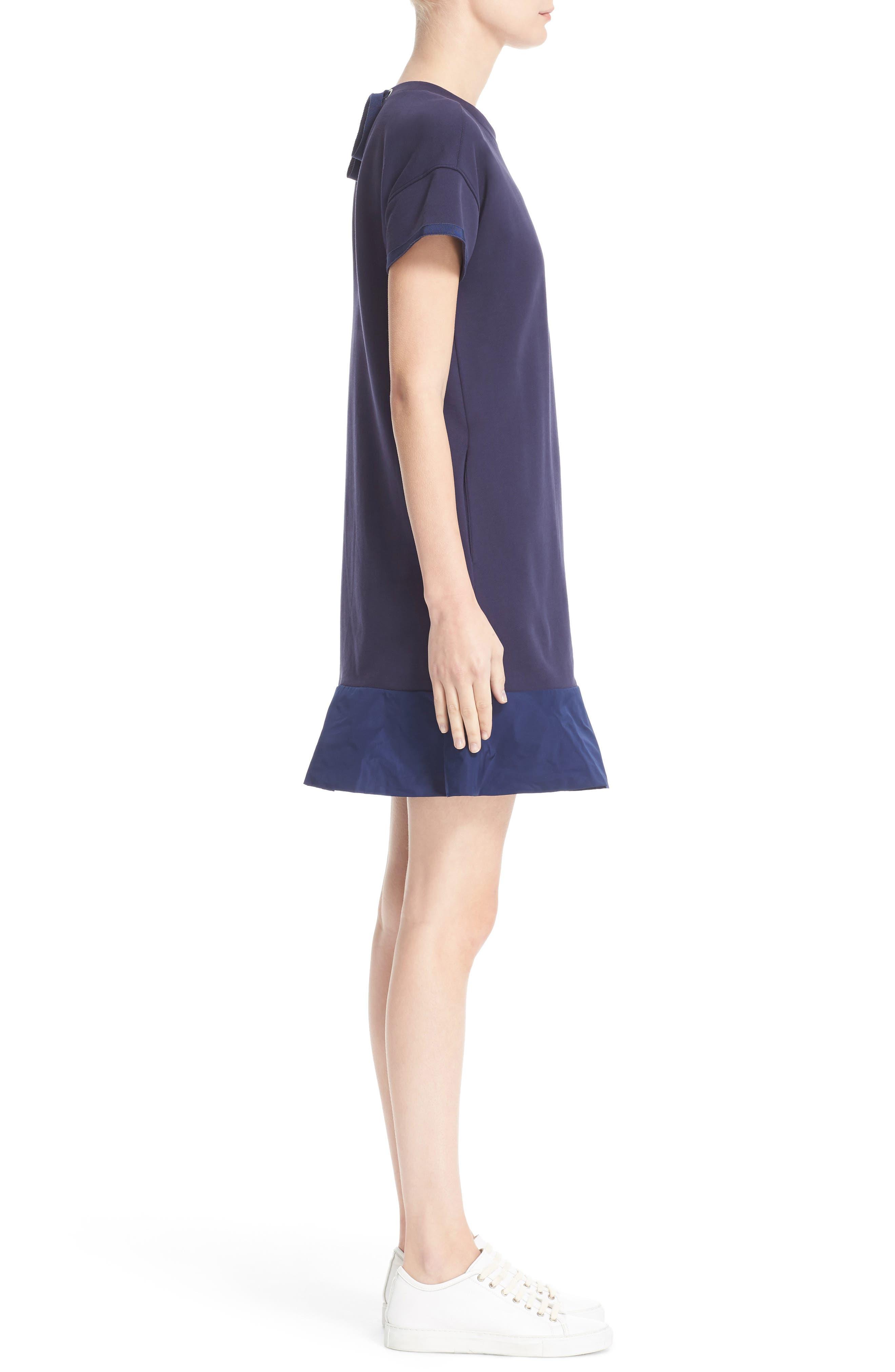 Abito Ruffle Sweatshirt Dress,                             Alternate thumbnail 3, color,                             420