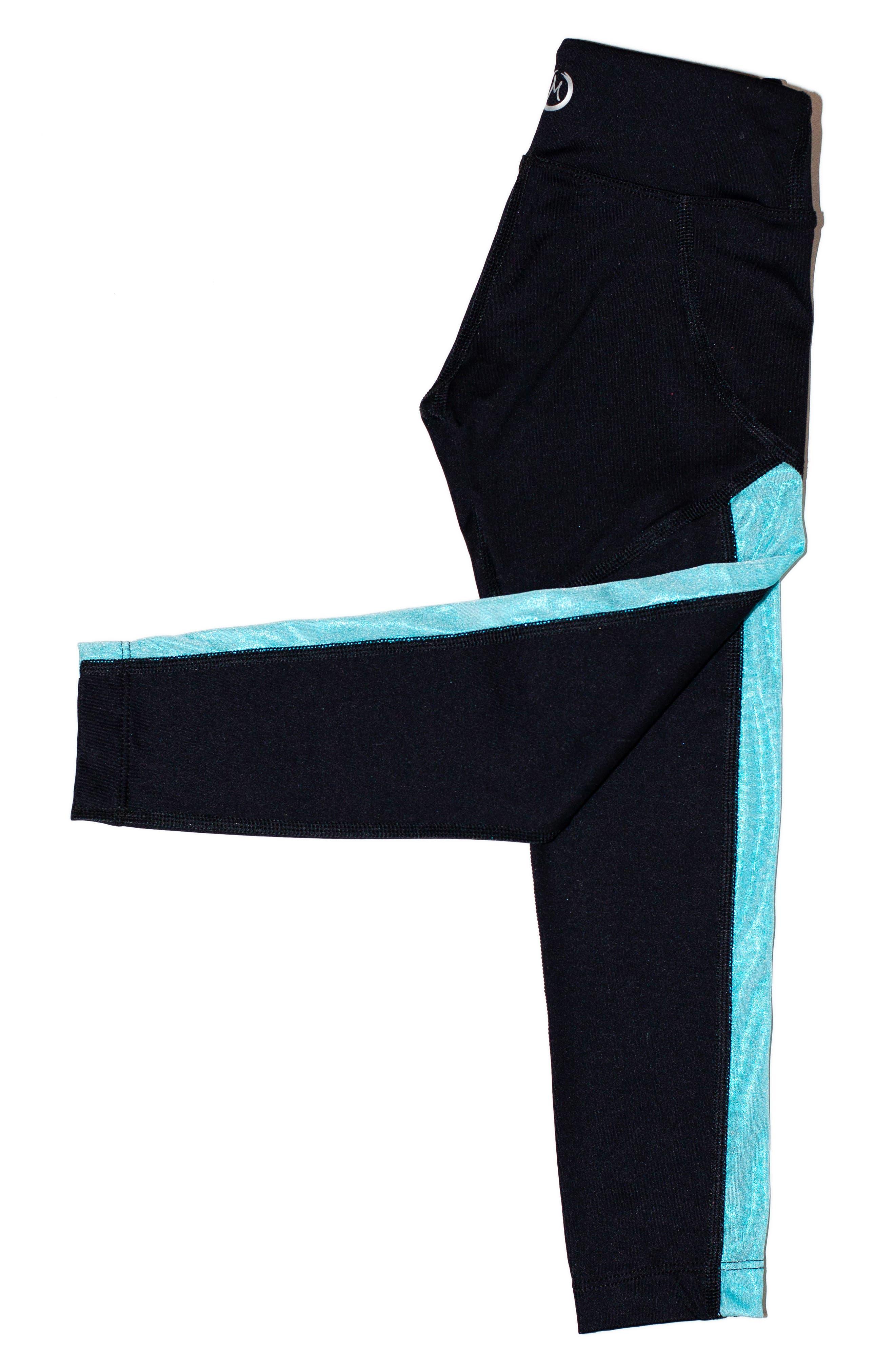 MIRA RAE,                             Zara Colorblock Leggings,                             Alternate thumbnail 2, color,                             001