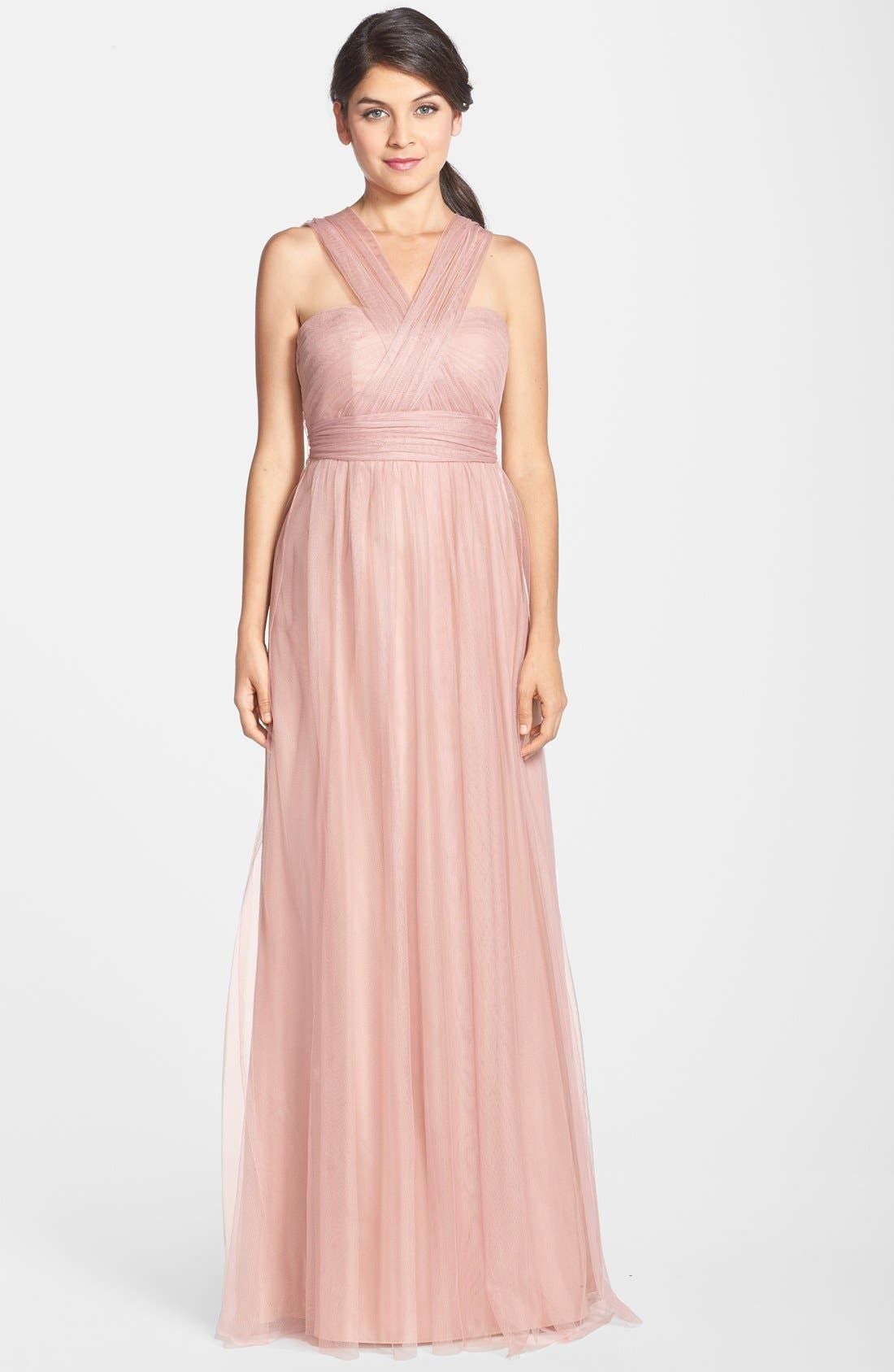 Annabelle Convertible Tulle Column Dress,                             Alternate thumbnail 128, color,