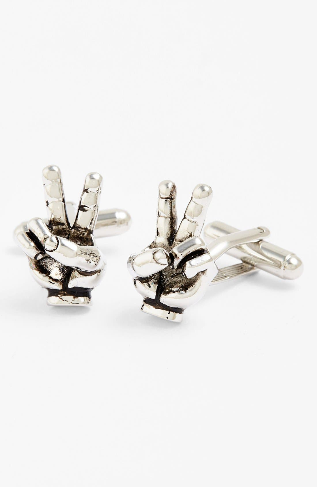 Peace Sign Cuff Links,                         Main,                         color, 040