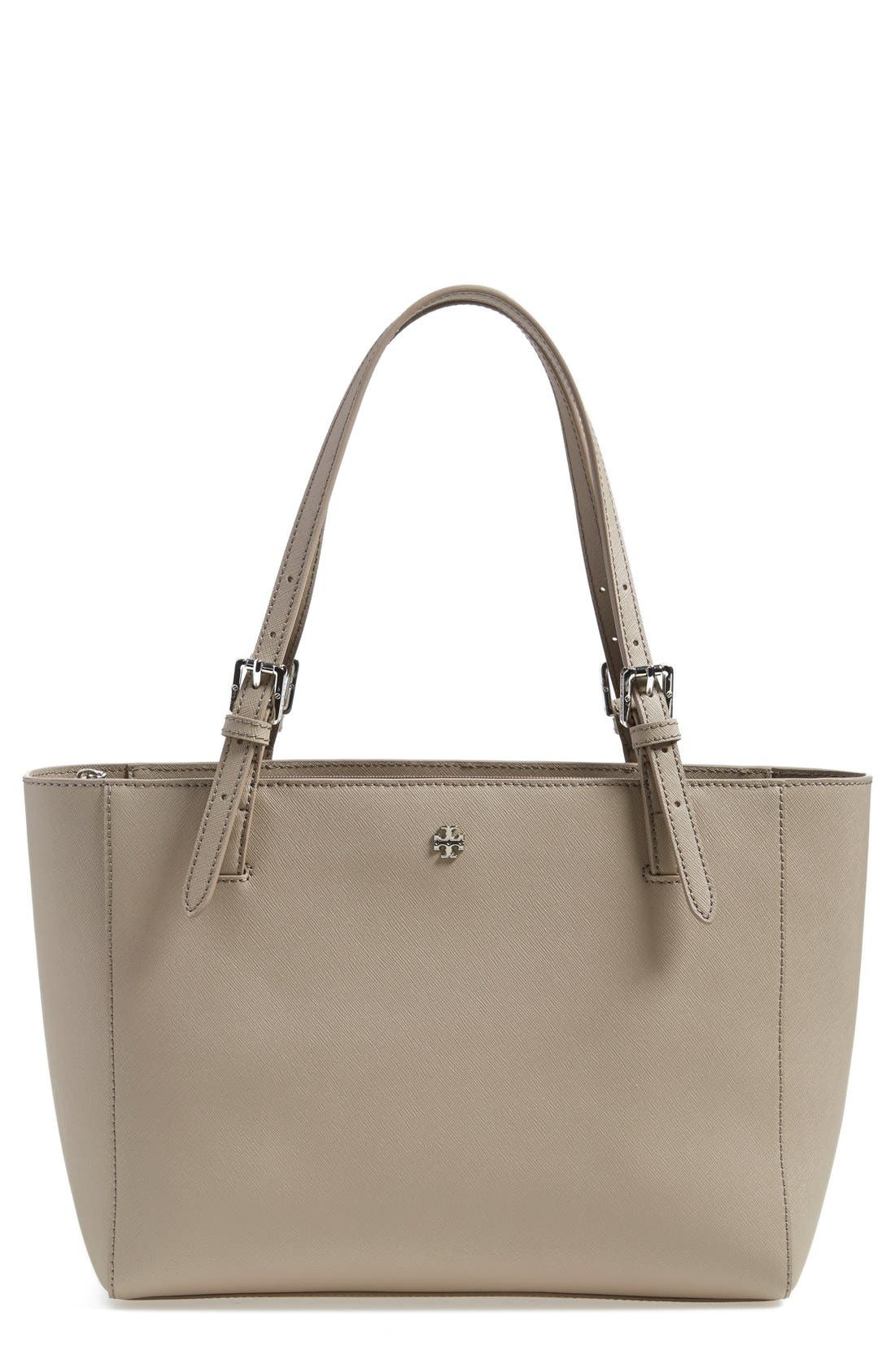 'Small York' Saffiano Leather Buckle Tote,                             Main thumbnail 1, color,