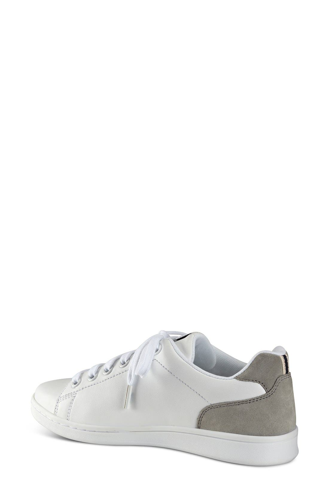 'Chapala' Sneaker,                             Alternate thumbnail 3, color,                             PURE WHITE LEATHER/ STEEL GREY