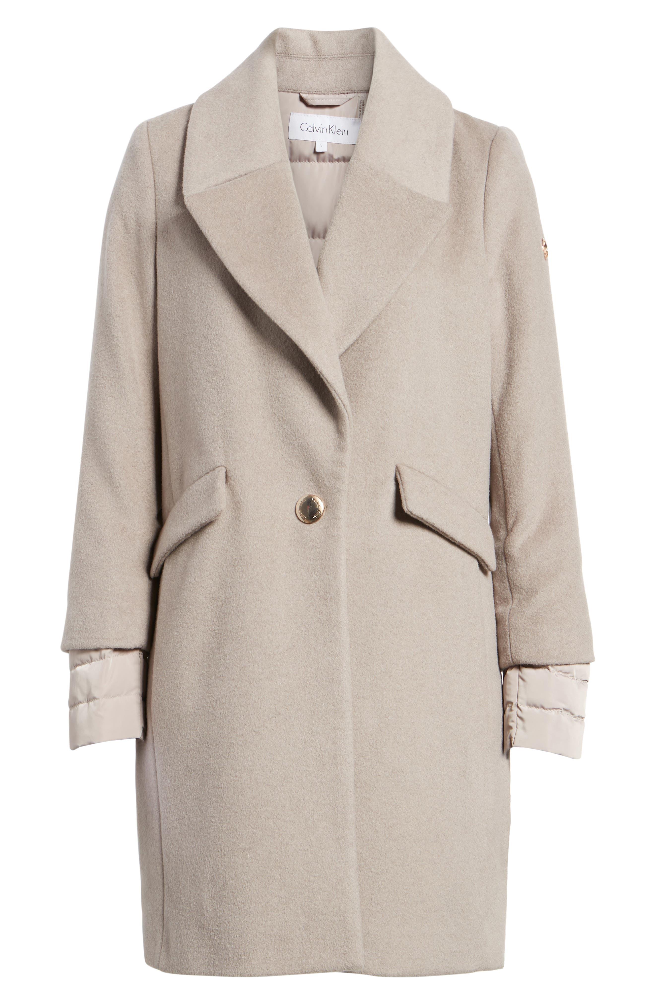 Wool & Down Reefer Coat,                             Alternate thumbnail 10, color,