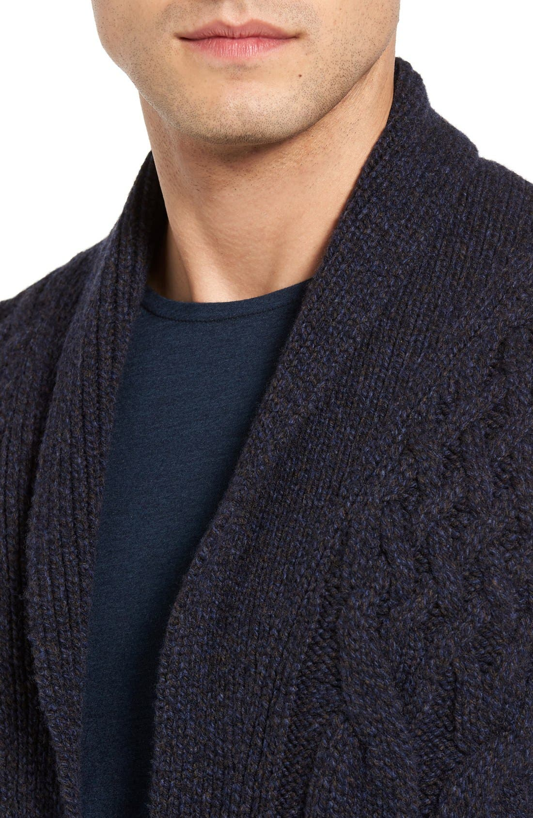 EIDOS,                             Napoli Cable Knit Wool Cardigan,                             Alternate thumbnail 9, color,                             405