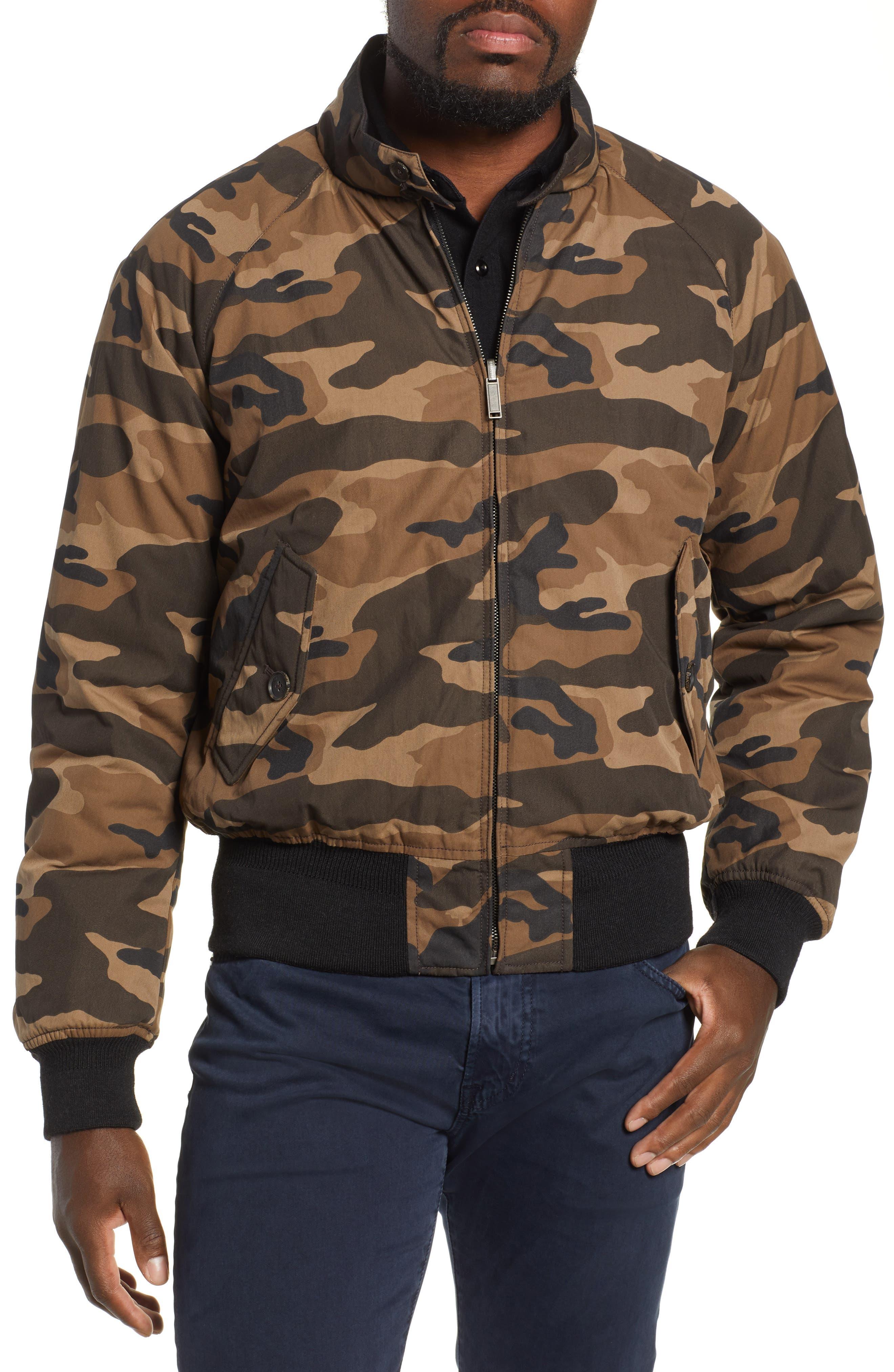 G9 Reversible Water Repellent Harrington Jacket,                         Main,                         color, CAMOUFLAGE