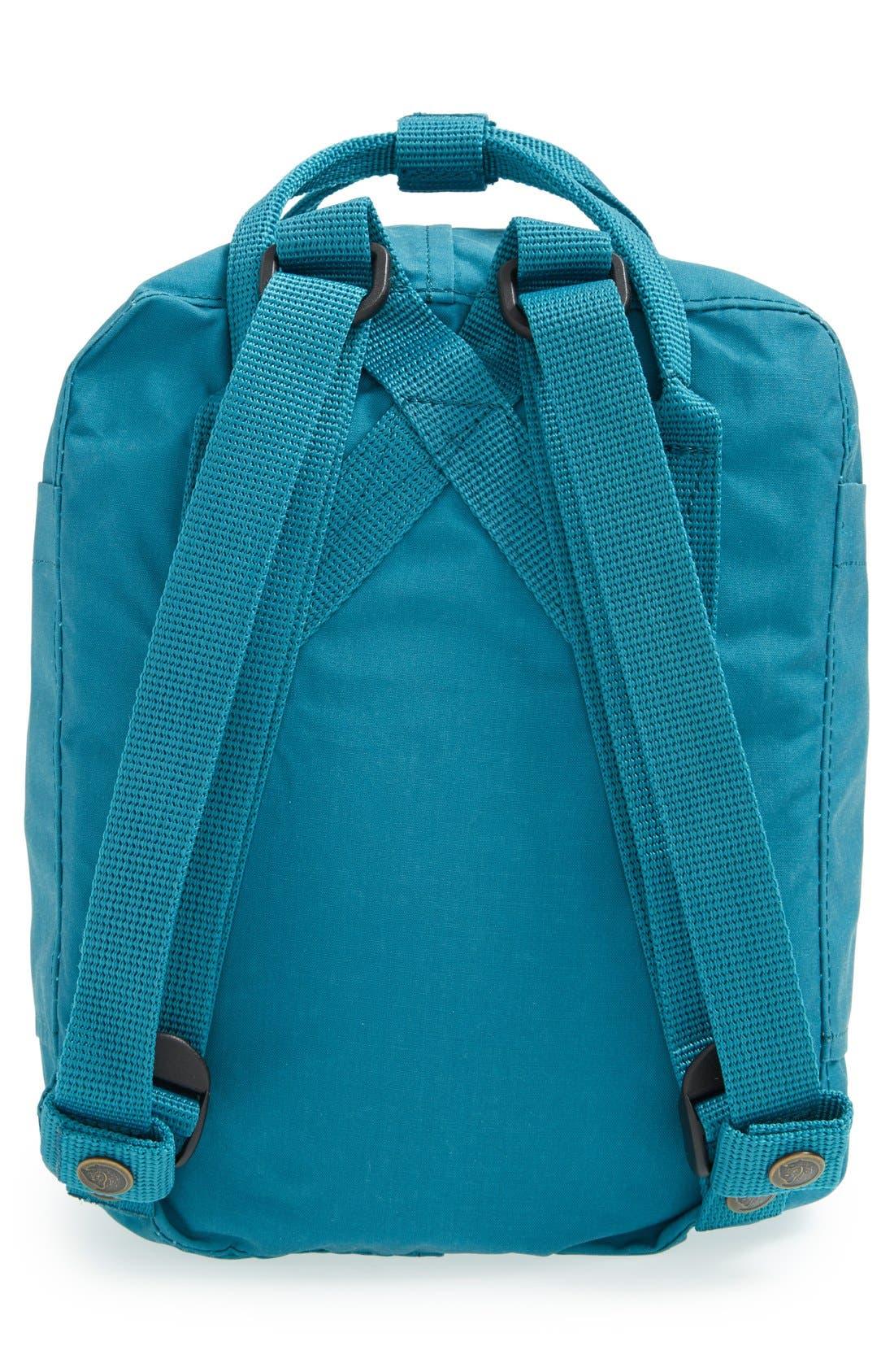 'Mini Kånken' Water Resistant Backpack,                             Alternate thumbnail 4, color,                             OCEAN GREEN