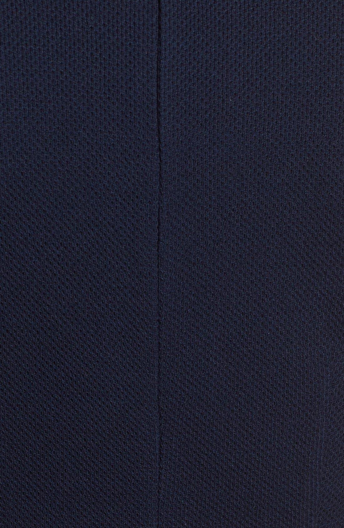 Peplum Milano Piqué Knit Dress,                             Alternate thumbnail 5, color,                             400